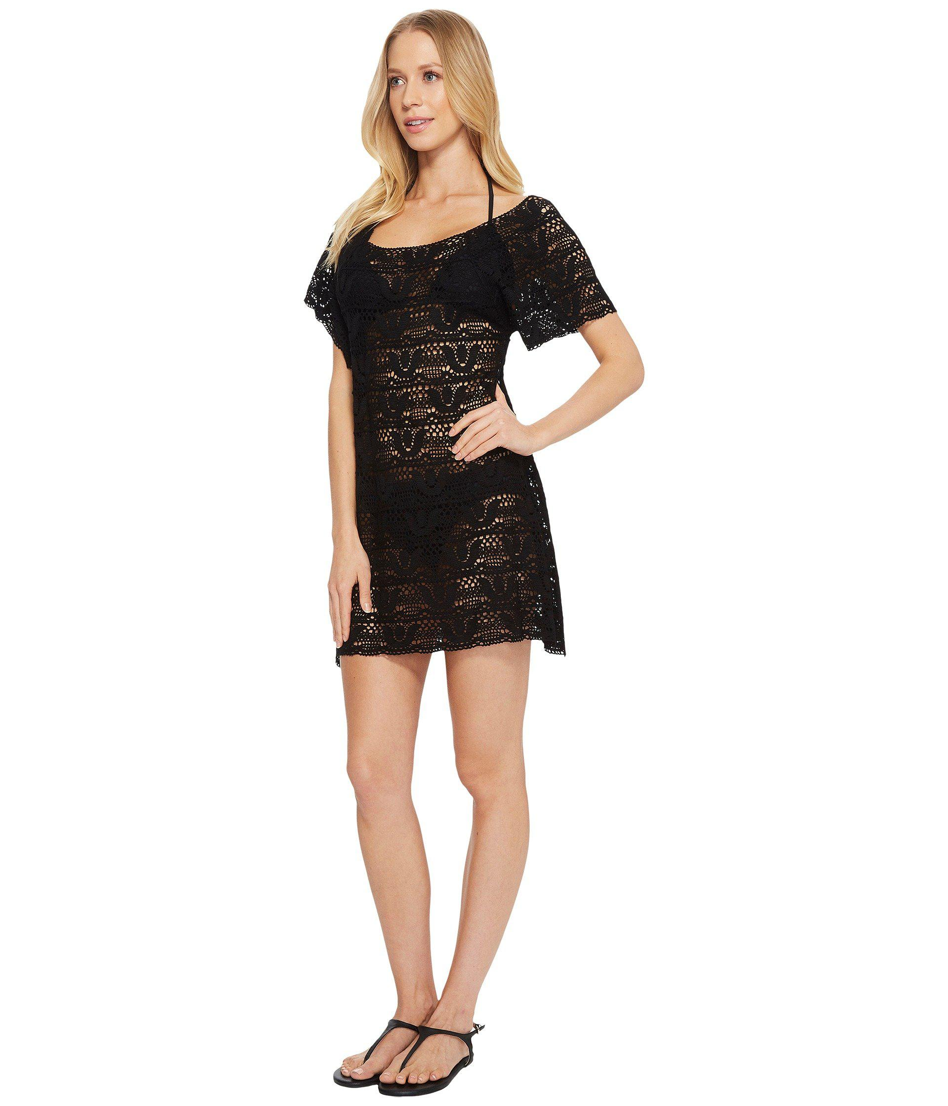 734aaa0c1ac Lyst - Nanette Lepore Crochet Short Dress Cover-up in Black - Save 16%