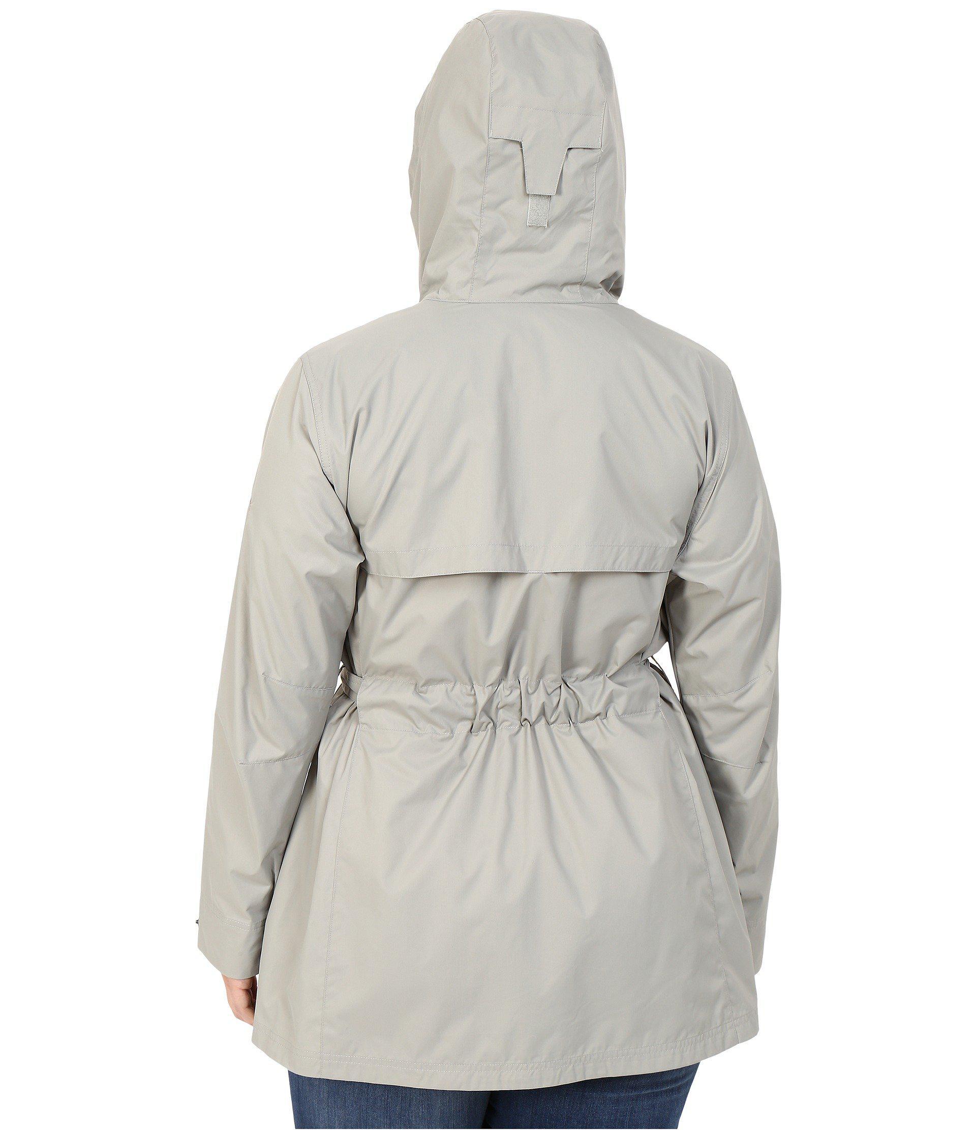 269740719e2 Columbia - Gray Plus Size Pardon My Trenchtm Rain Jacket - Lyst. View  fullscreen