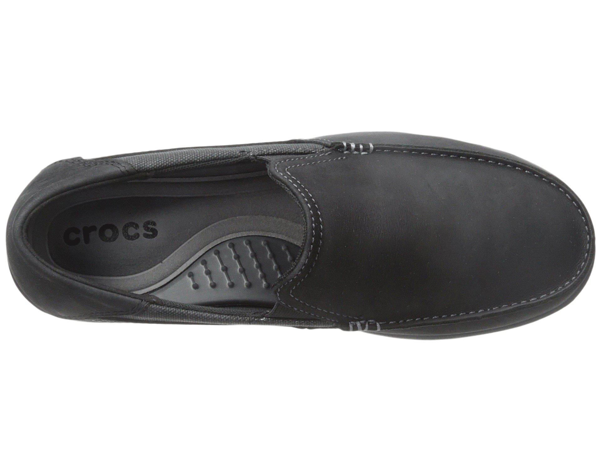 2055458f9 Crocs™ - Black Santa Cruz 2 Luxe Leather for Men - Lyst. View fullscreen