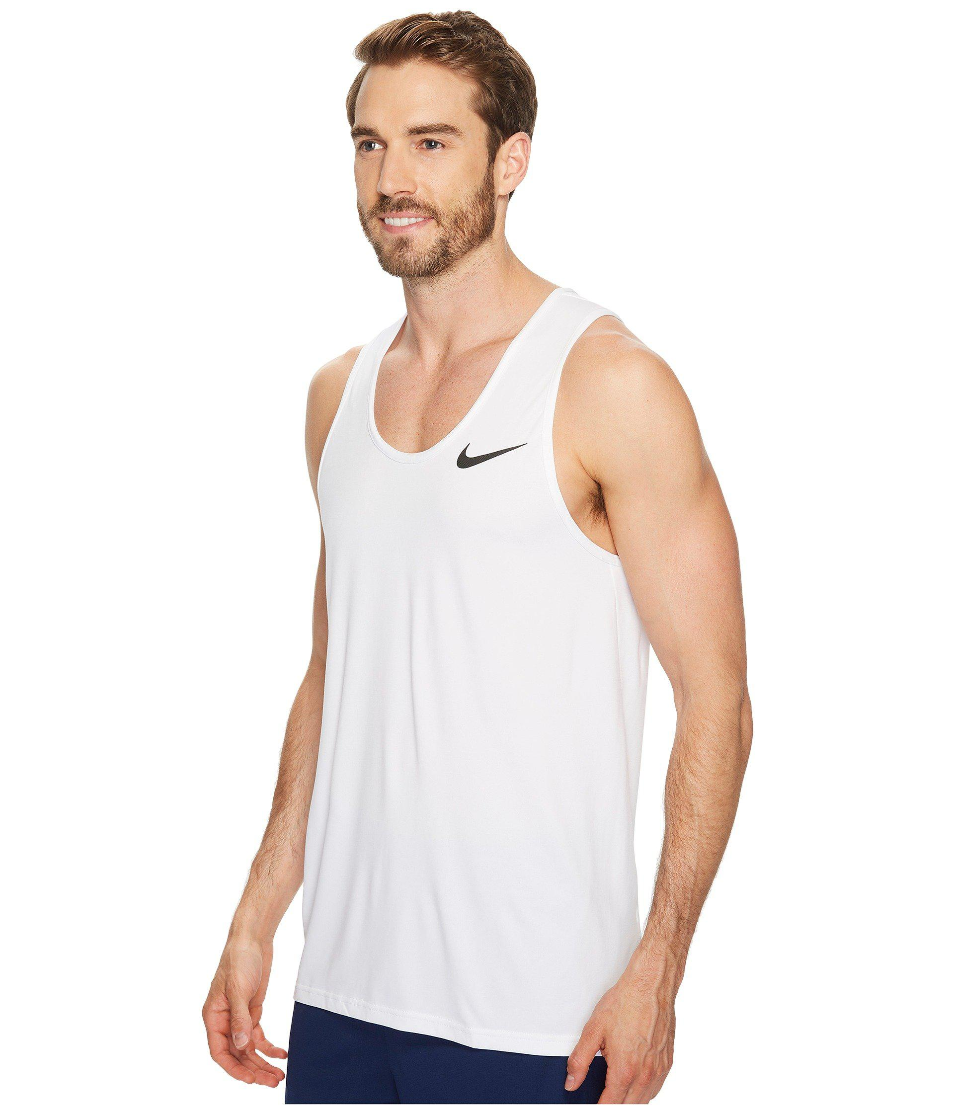 91a40472 Lyst - Nike Breathe Training Tank in White for Men - Save 32%