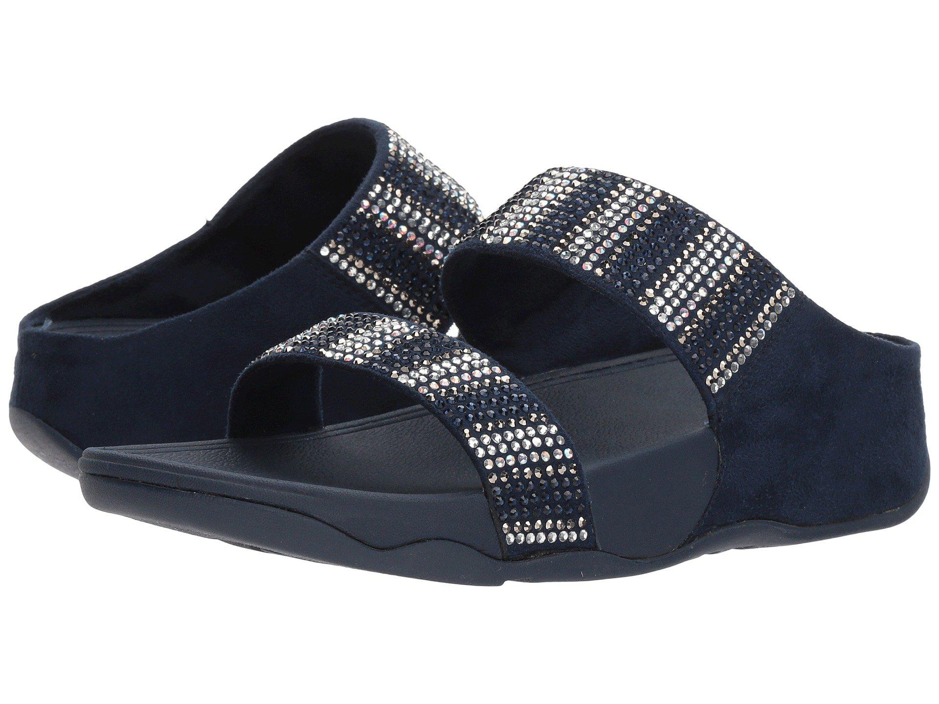 26ccd2a24915 Lyst - Fitflop Flare Strobe Slide in Blue - Save 66%