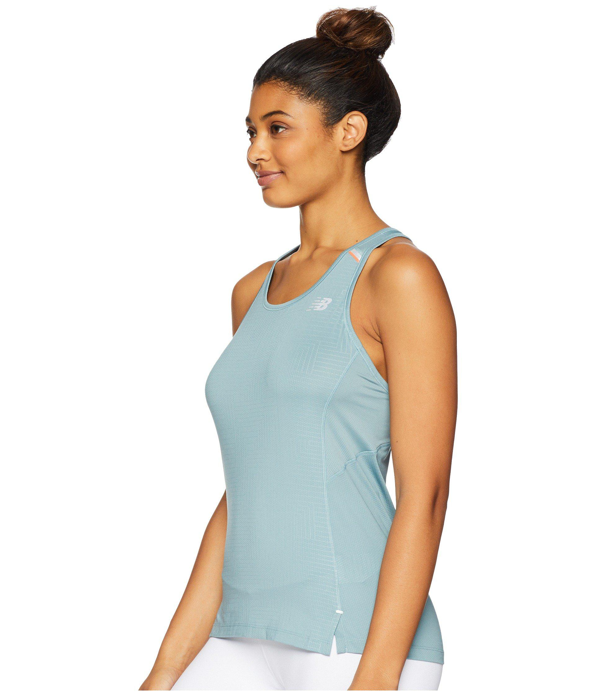 5a7a64dfebe5e Lyst - New Balance Nb Ice 2.0 Print Tank Top in Blue - Save 39%