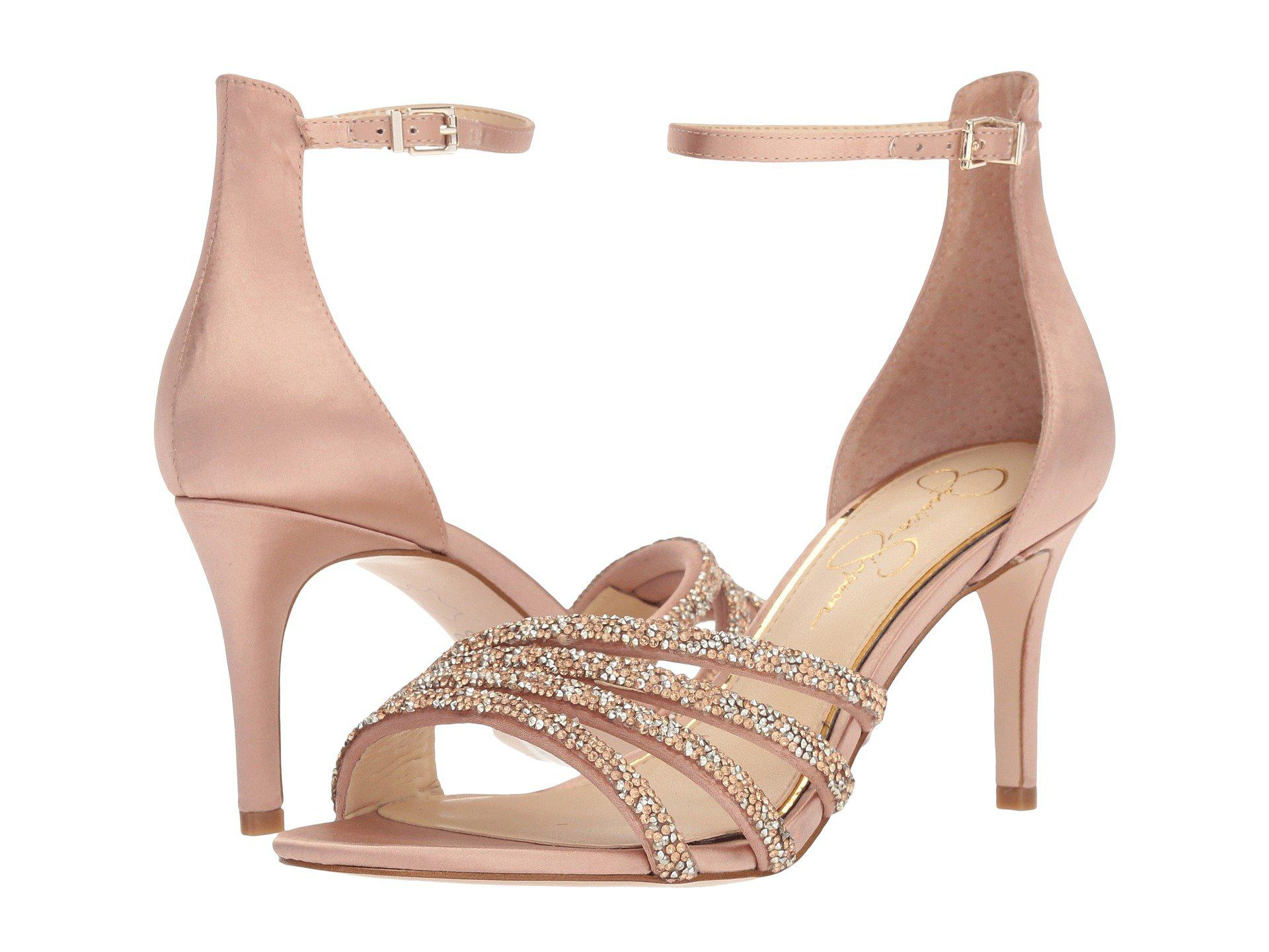 c8c7dd9ac6e4 Lyst - Jessica Simpson Paveny Heeled Sandal in Natural - Save 50%
