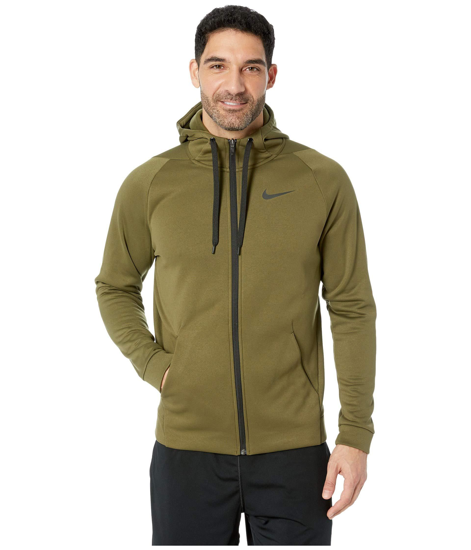 25a7a7cd027b7 Lyst - Nike Dri-fit Therma Men s Full-zip Training Hoodie in Green ...