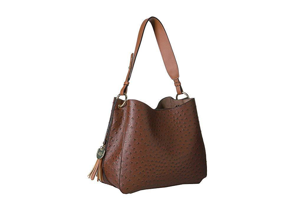 c5d795957 London Fog - Brown Isabel Hobo (nutmeg/cognac (ostrich)) Handbags -. View  fullscreen