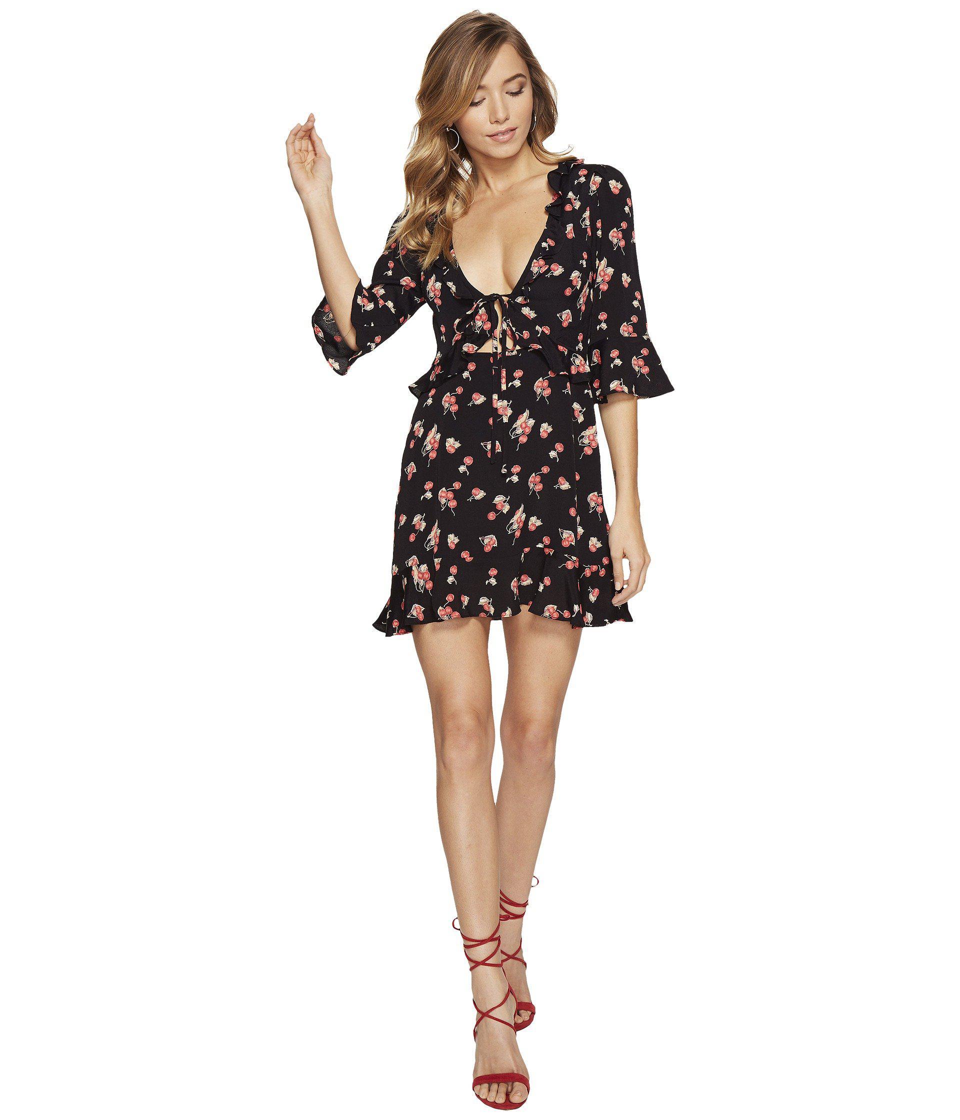 387404e6491 Lyst - For Love   Lemons Cherry Sundress in Black