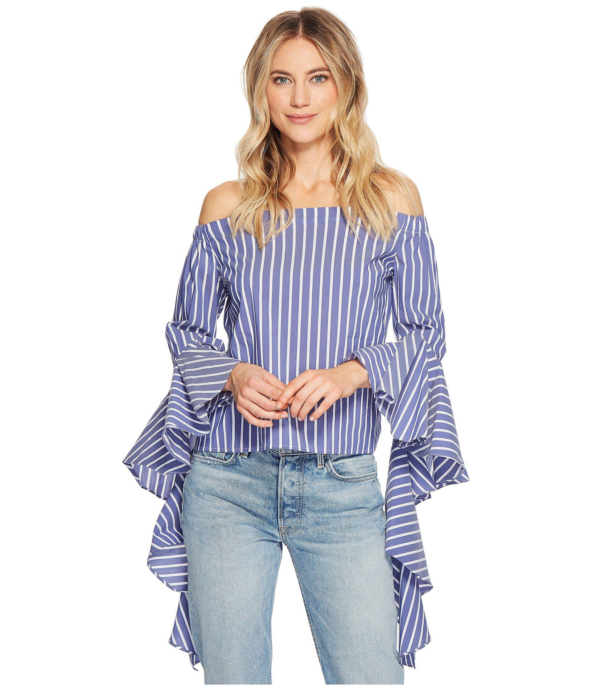 ec0a82d2e03a8 Lyst - Bishop + Young Gigi Sleeve Detail Top in Blue - Save 13%