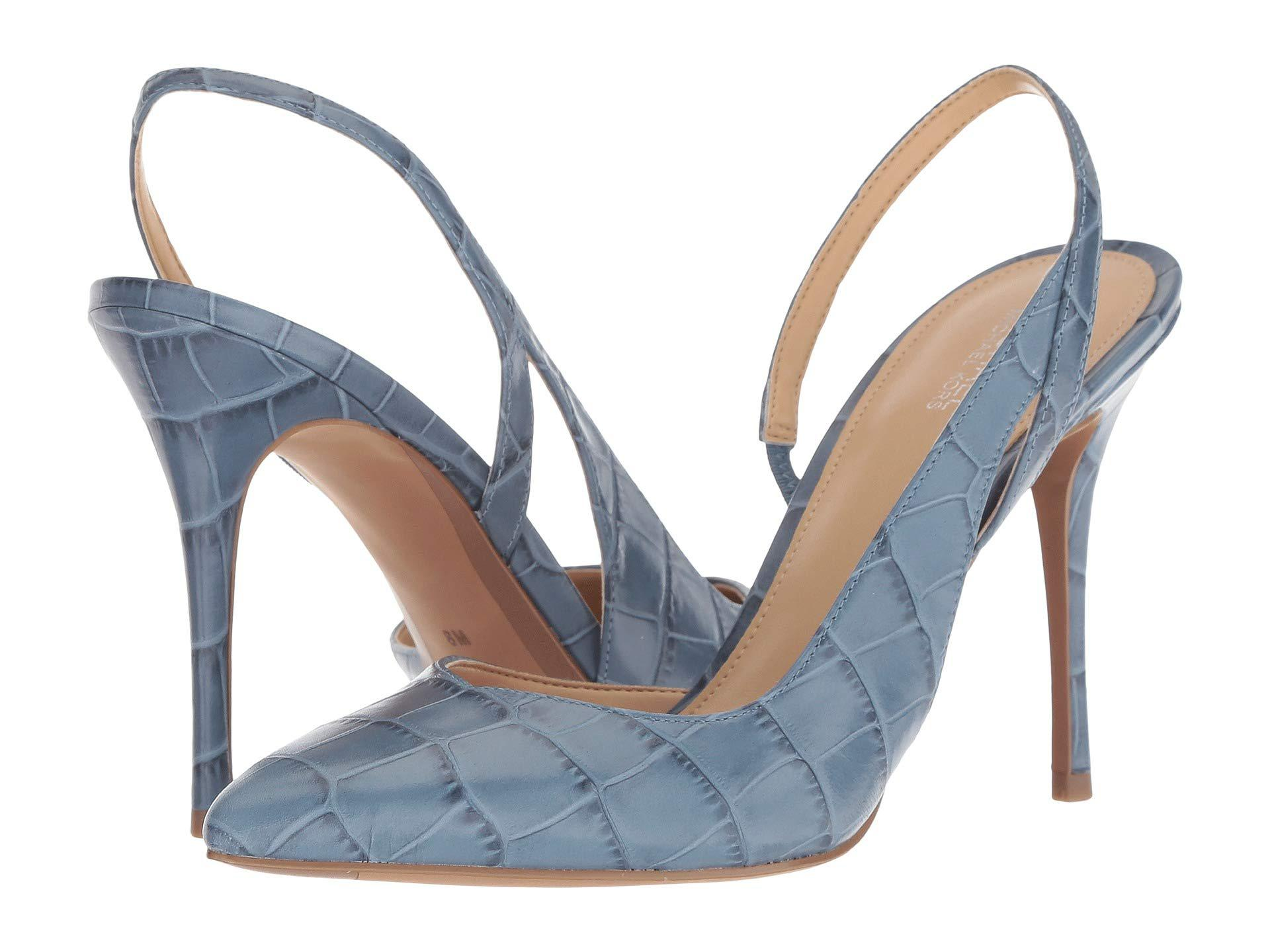 9c5e6fee435 Lyst - MICHAEL Michael Kors Eliza Pump in Blue