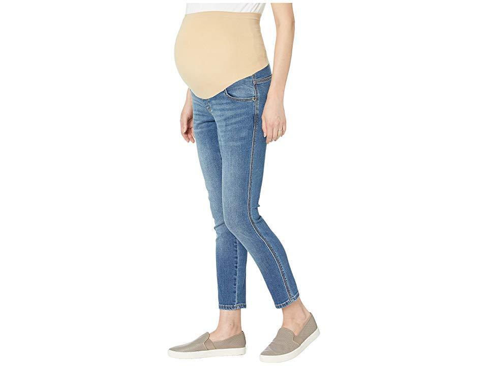 ea5da5ef48a68 Seven7 - Blue 27 Slimmaker Ankle Skinny - Maternity (over The Belly) In  Kingman. View fullscreen