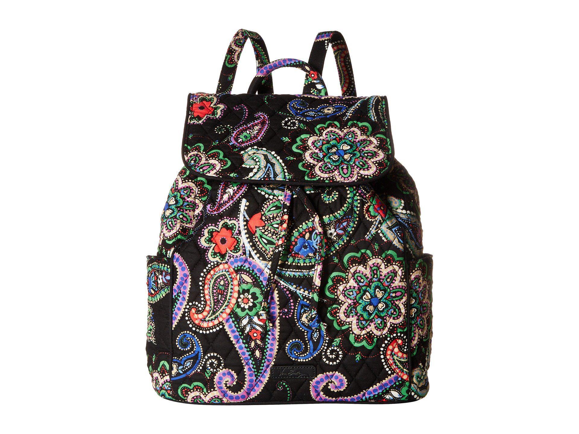 778079fb83 Lyst - Vera Bradley Drawstring Backpack in Black