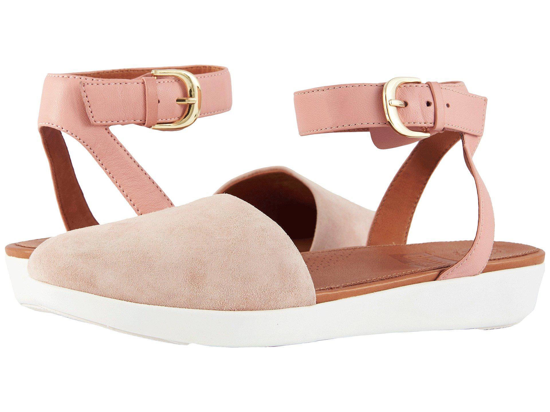 6145c53b07e Lyst - Fitflop Cova Closed Toe Sandals in Pink