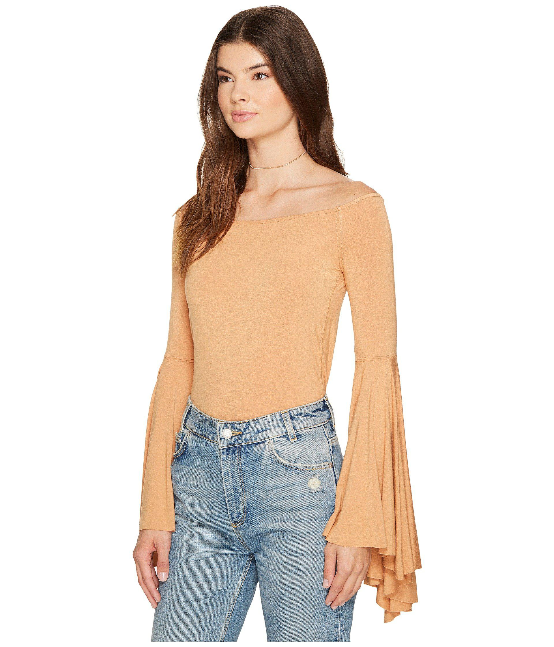 acb481b195d6c Lyst - Free People Birds Of Paradise Top in Natural