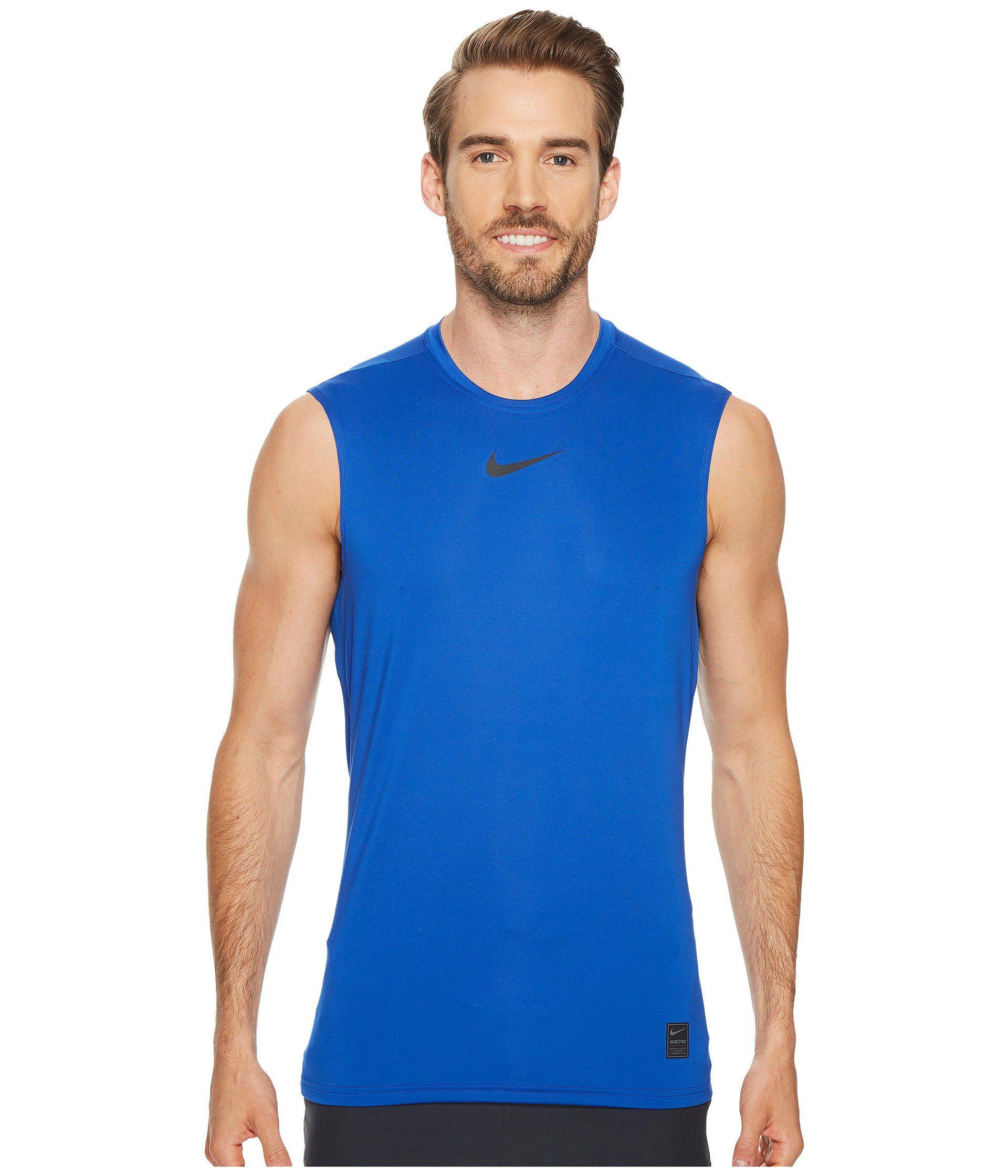 f4636b53e1eb9 Nike - Pro Fitted Sleeveless Training Top (black white white) Men s  Sleeveless. View fullscreen