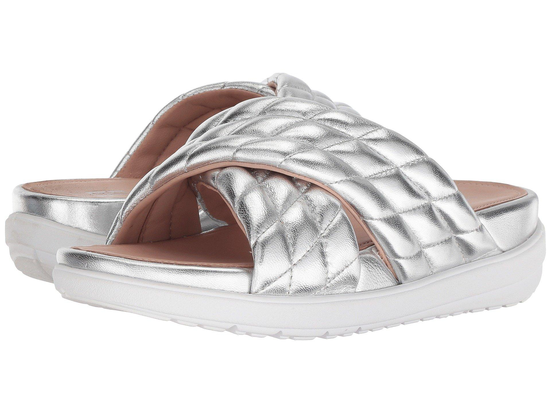 356d2471a0da Lyst - Fitflop Loosh Luxe Slide Sandal in Metallic - Save 55%