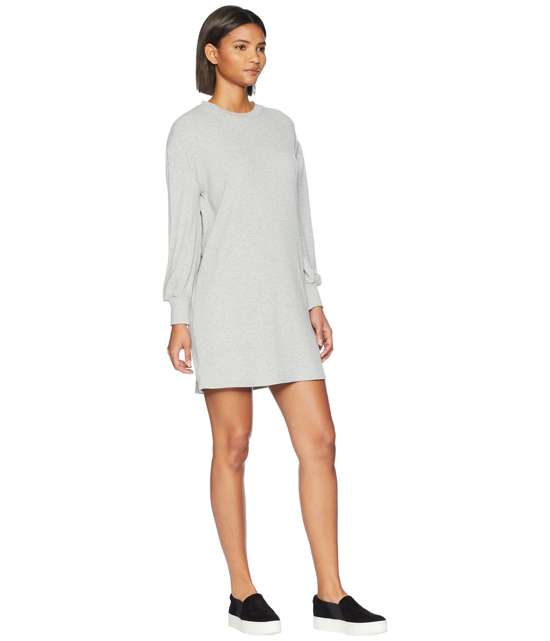 863c5bde31 Volcom - Gray Lil Long Sleeve Dress - Lyst. View fullscreen