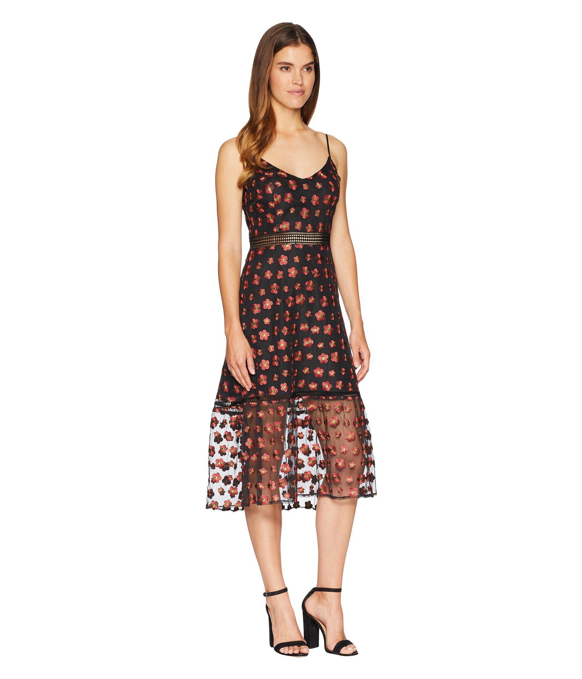 2895129b148 Lyst - Jack BB Dakota Magic Hour Embroidered Mesh Dress With Ribbon ...
