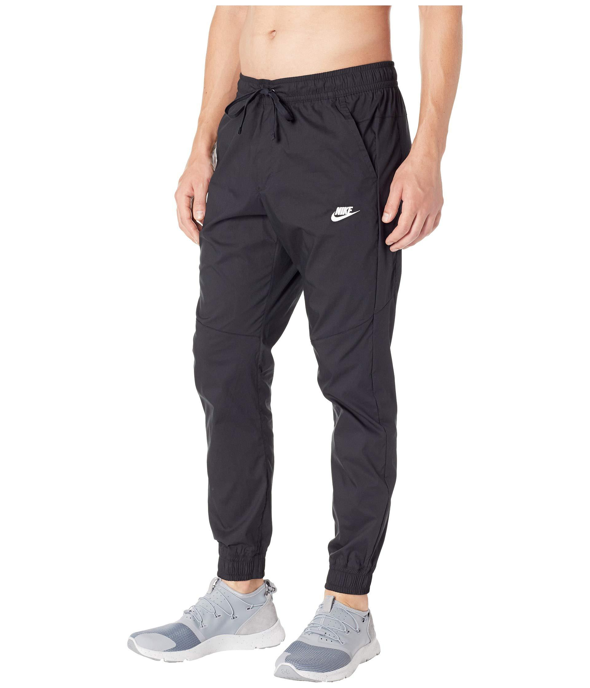 4a67b13f6f8 Lyst - Nike Nsw Jogger Woven Core Street in Black for Men