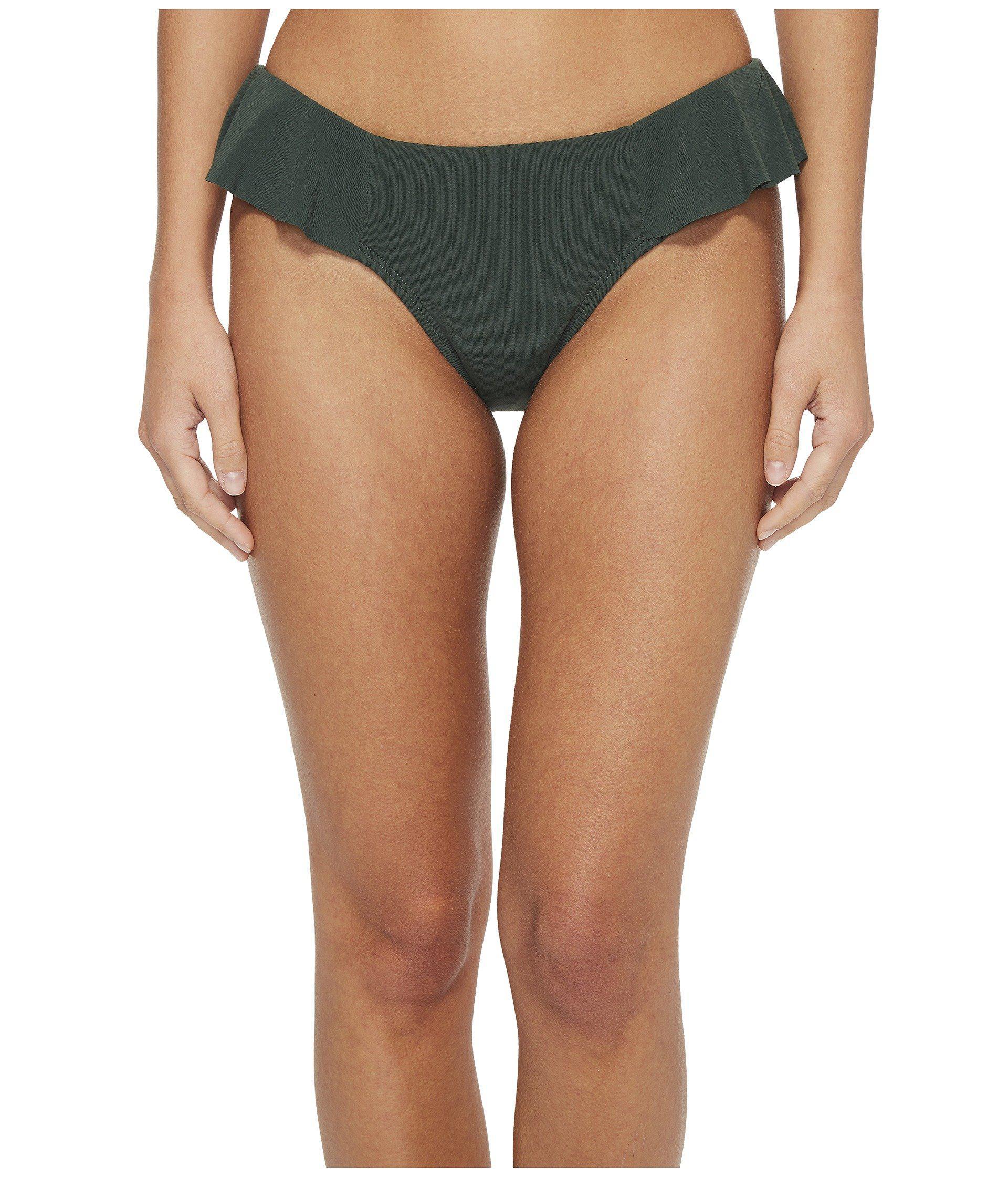 7e49b5e1678 Robin Piccone Lina Ruffle Bikini Bottom in Green - Lyst