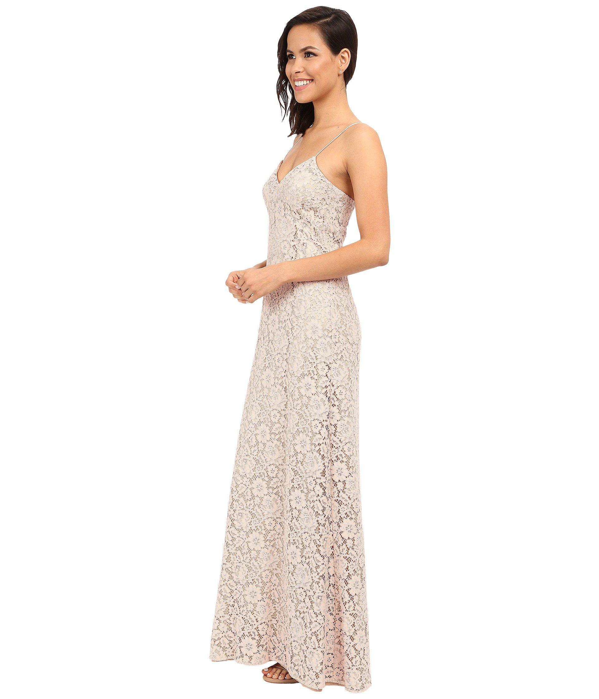 ea5140469bd Lyst - Donna Morgan Gia Spaghetti Strap Slip Dress in Pink - Save 57%