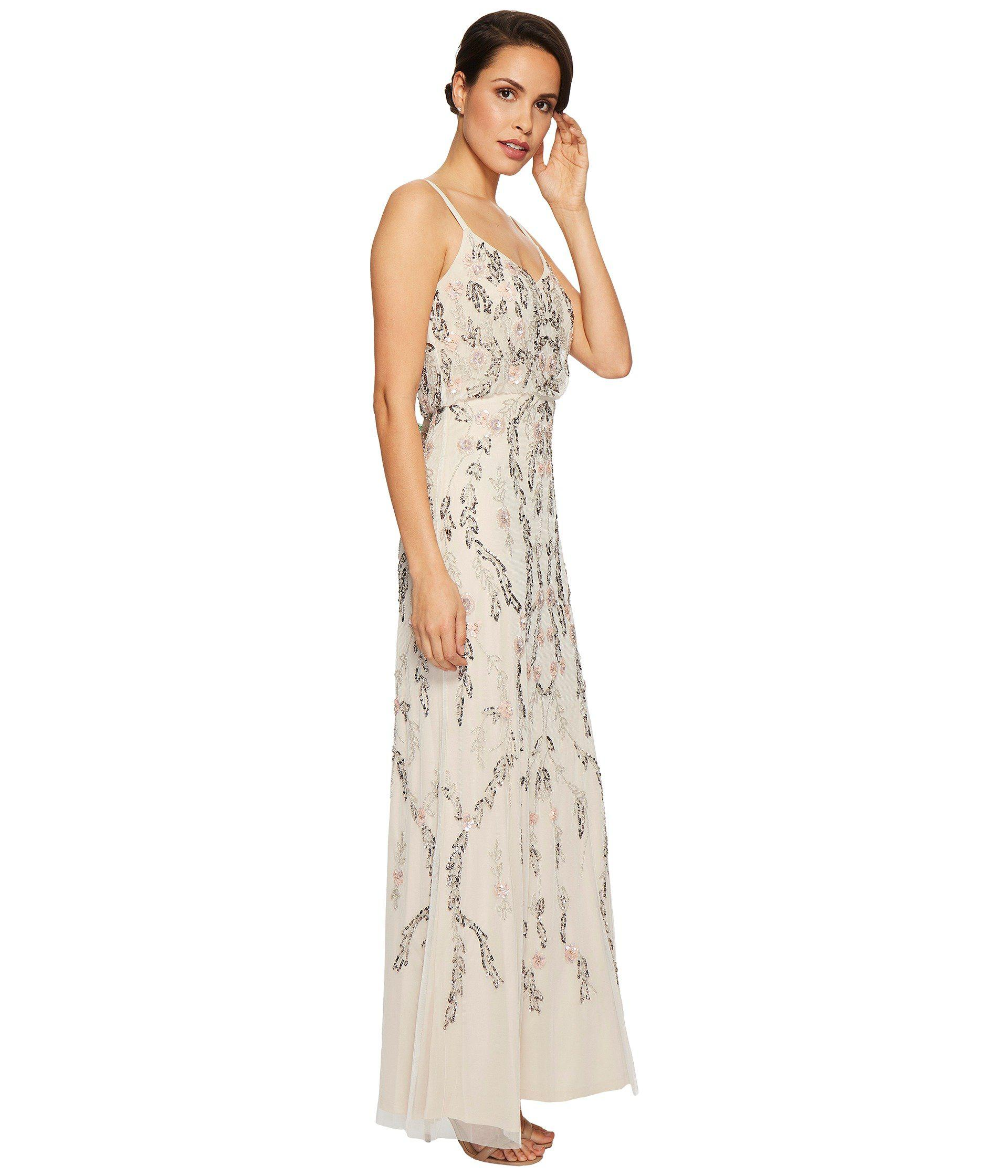 Floral Beaded Blouson Gown Anlis
