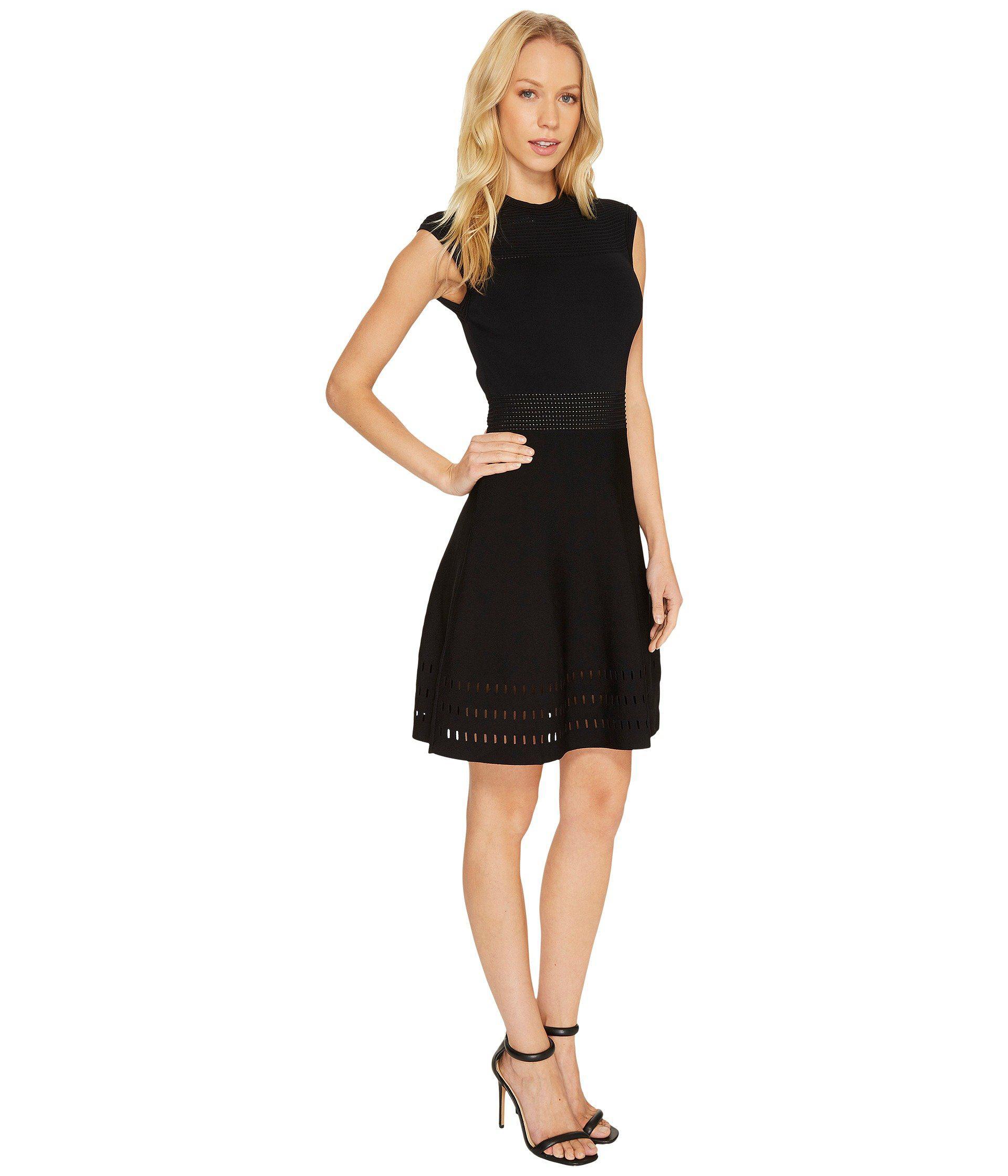 72175c7dd7f65 Lyst - Ted Baker Aurbray Knitted Skater Dress in Black