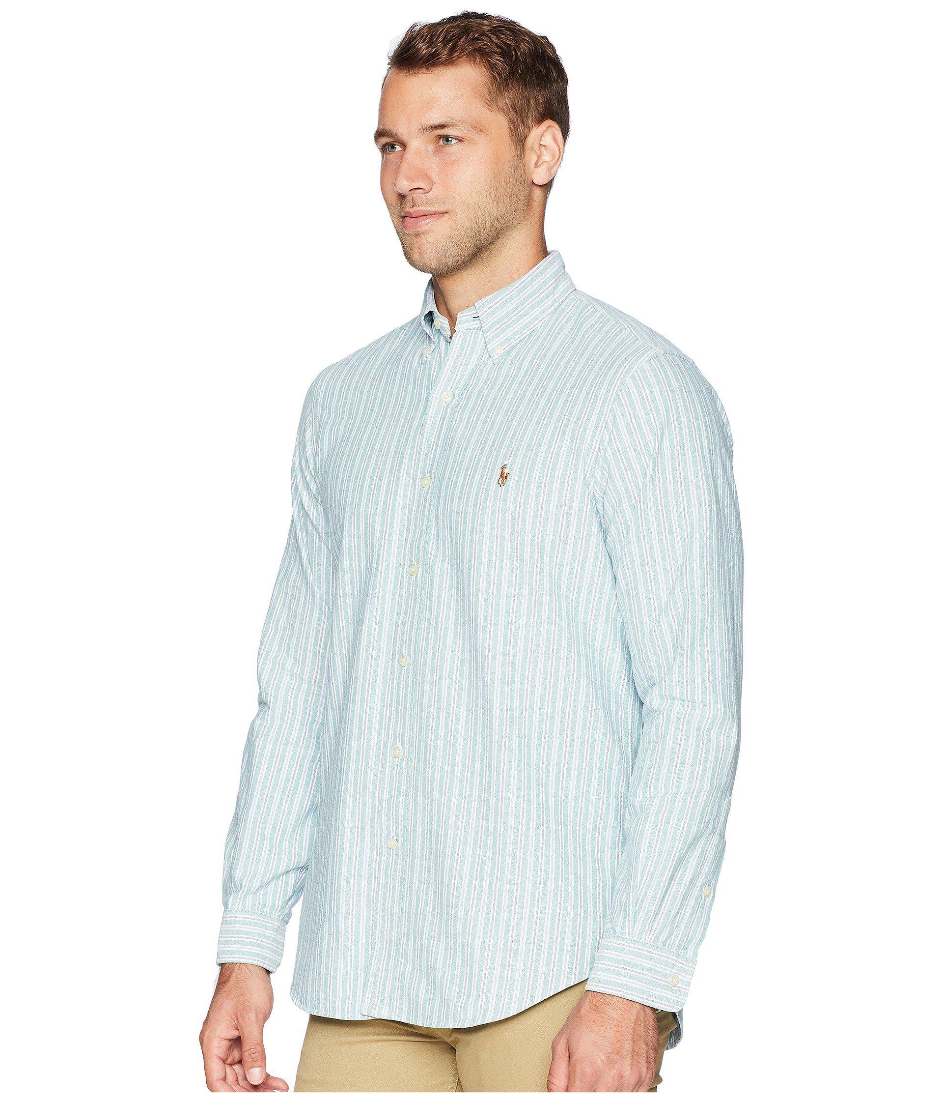 32b1422fa8a Polo Ralph Lauren - Blue Oxford Button Down Sport Shirt for Men - Lyst.  View fullscreen