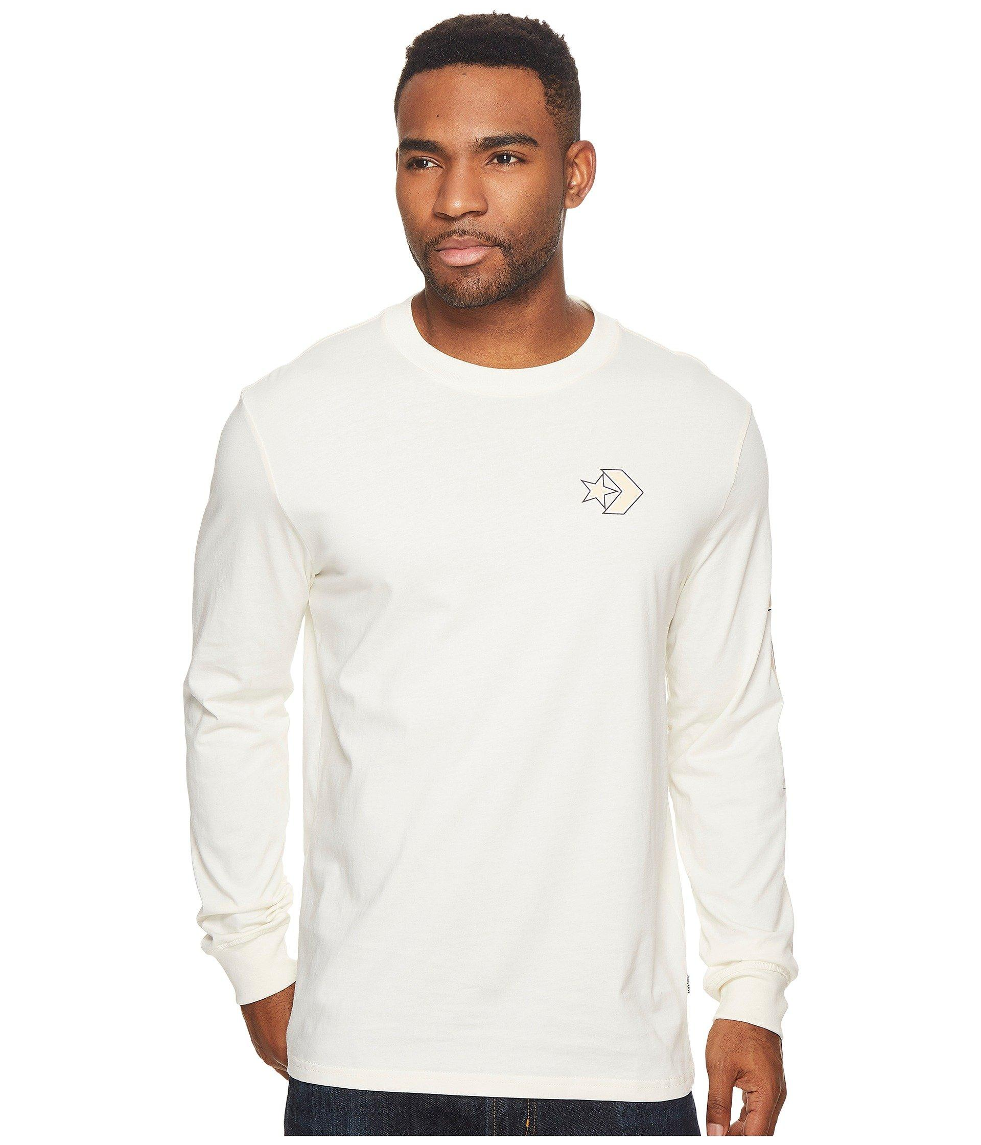 7a1661a8fe42f0 Lyst - Converse Cons Wordmark Long Sleeve T-shirt in White for Men