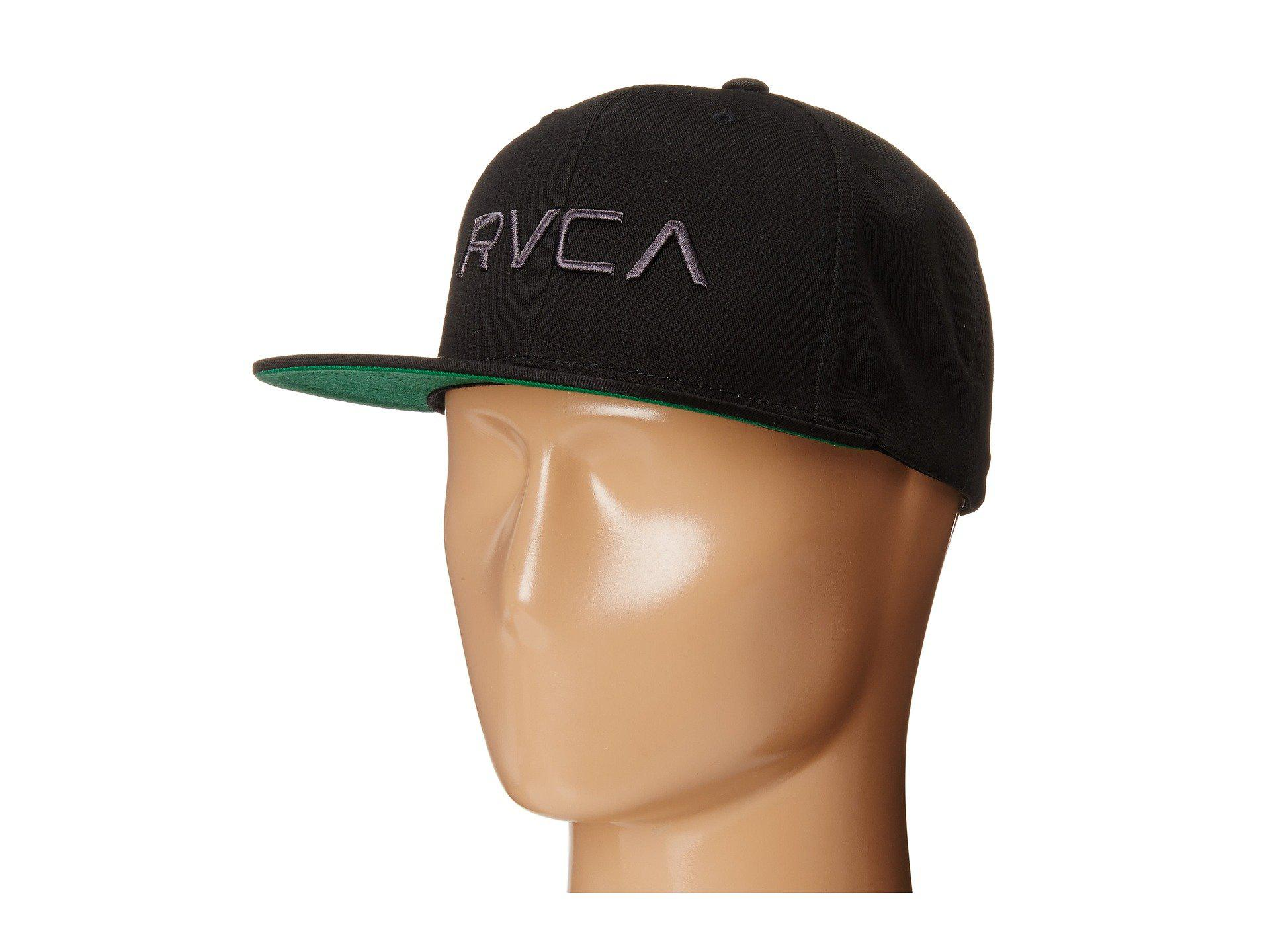 f5c2d063 RVCA Twill Snapback (navy/red) Baseball Caps in Black for Men - Lyst