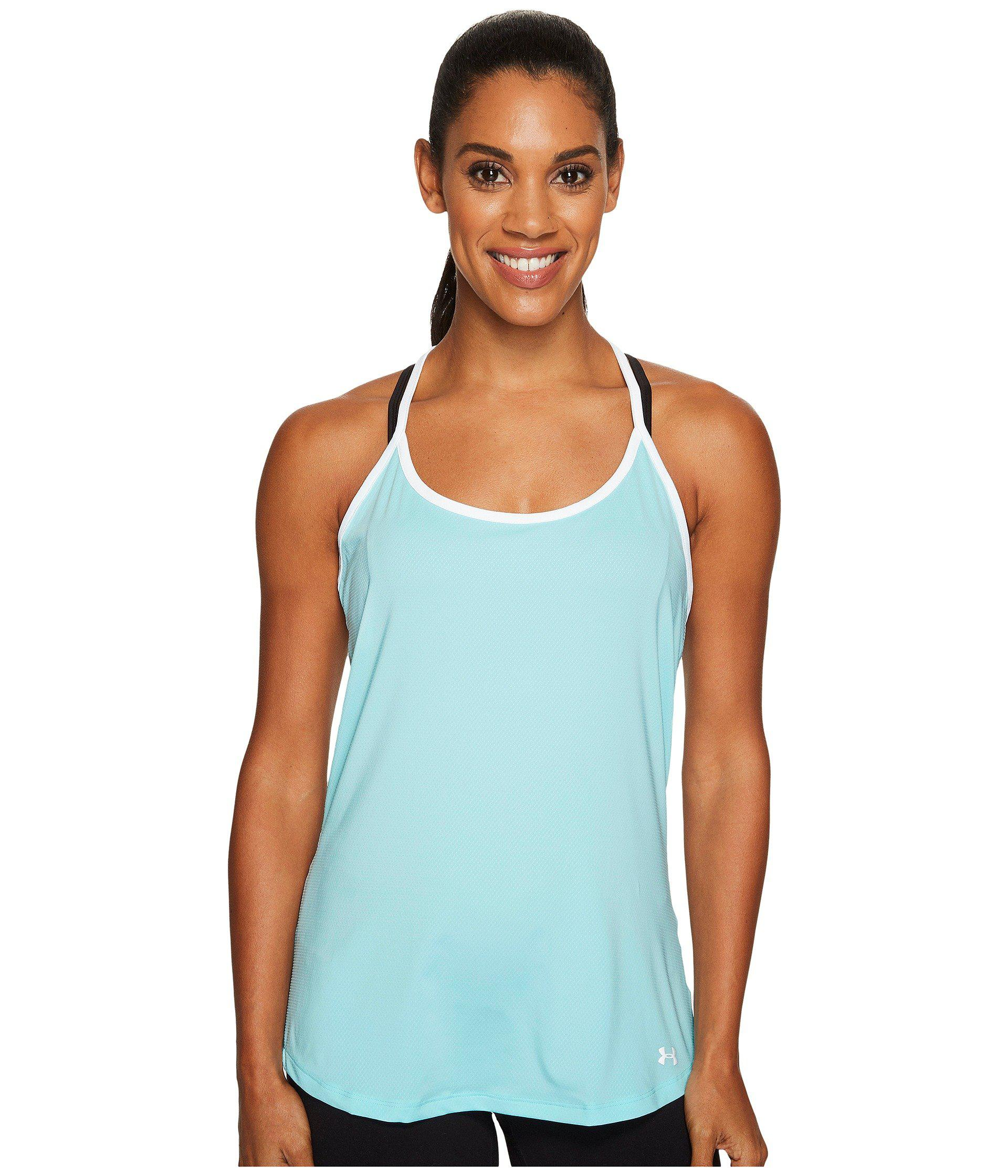 88855675e9979 Under Armour - Blue Fly By Racerback Tank Top - Lyst. View fullscreen