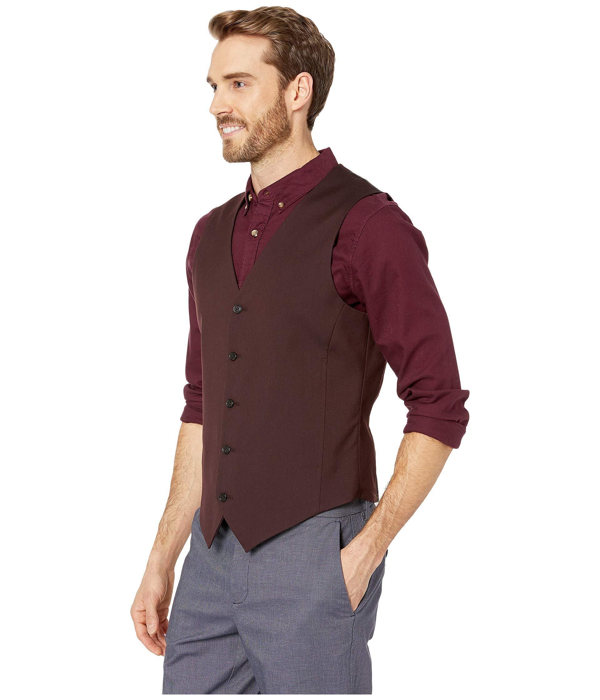 a57eb24cc1 Lyst - Perry Ellis Slim Fit Stretch Twill Suit Vest for Men