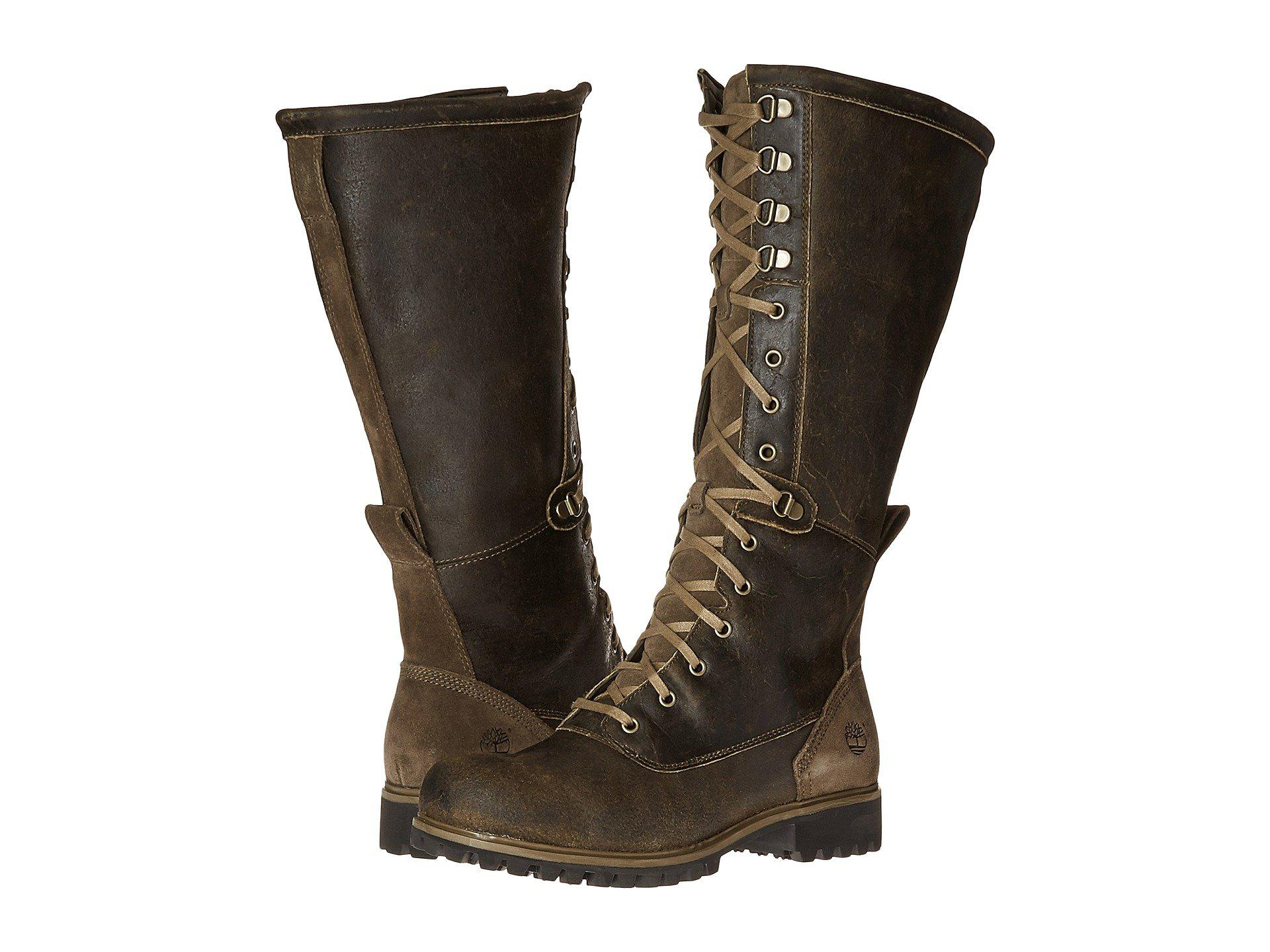 aecb0143f04e Lyst - Timberland Wheelwright Tall Lace Waterproof Boot in Brown