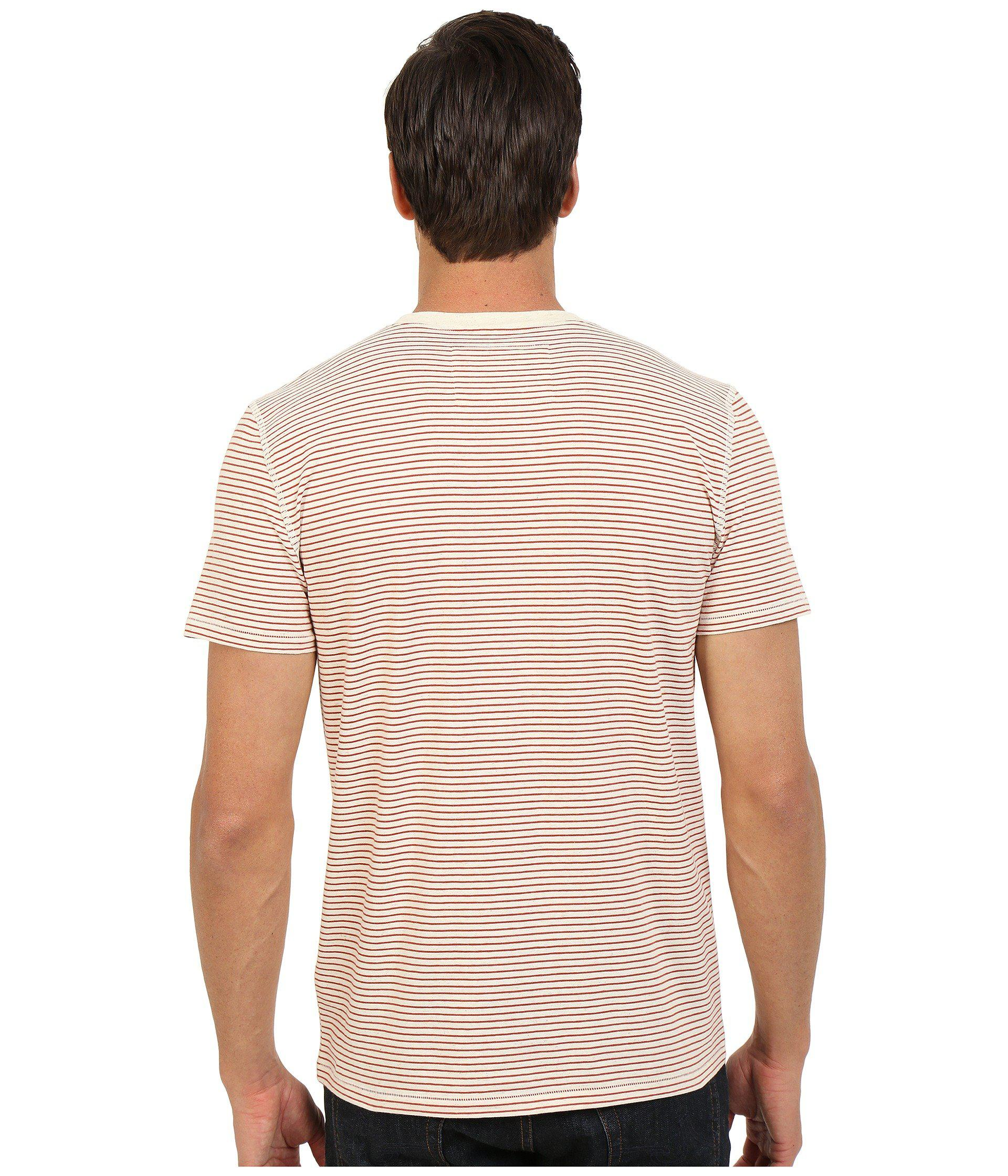 0a27594882 7 For All Mankind Short Sleeve Stripe Ringer Tee for Men - Lyst