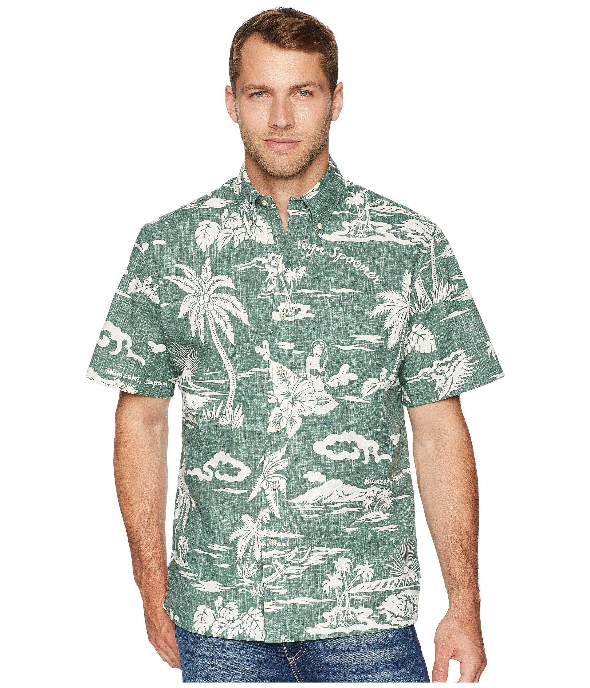 9087bb16 Lyst - Reyn Spooner My Private Isle Classic Fit Aloha Shirt in Green ...