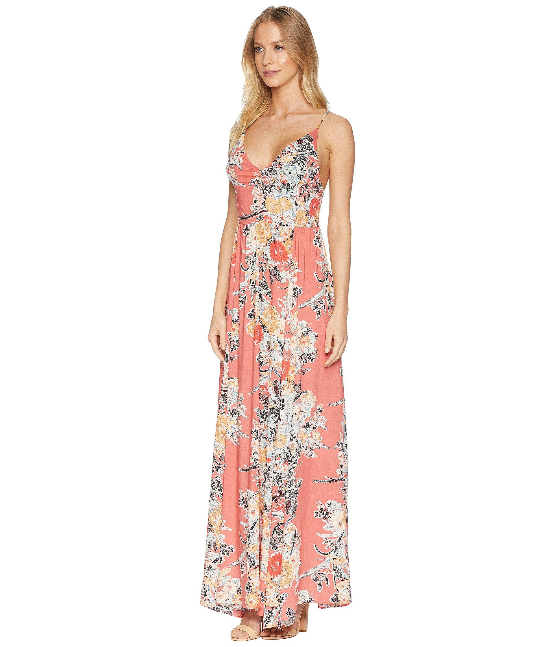 e647a9cf2329 Lyst - Free People Through The Vine Printed Maxi in Red