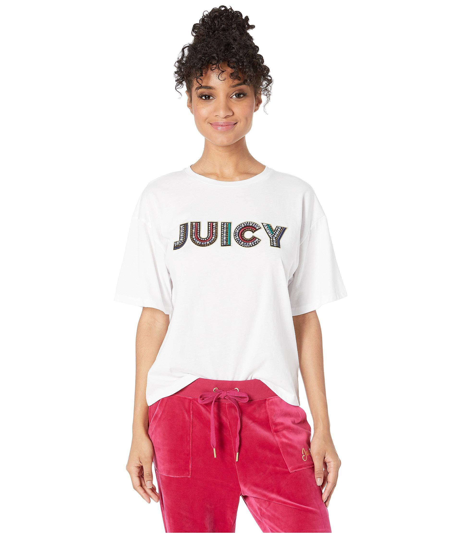 da34fde2 Lyst - Juicy Couture Luxe Juicy Tee in White