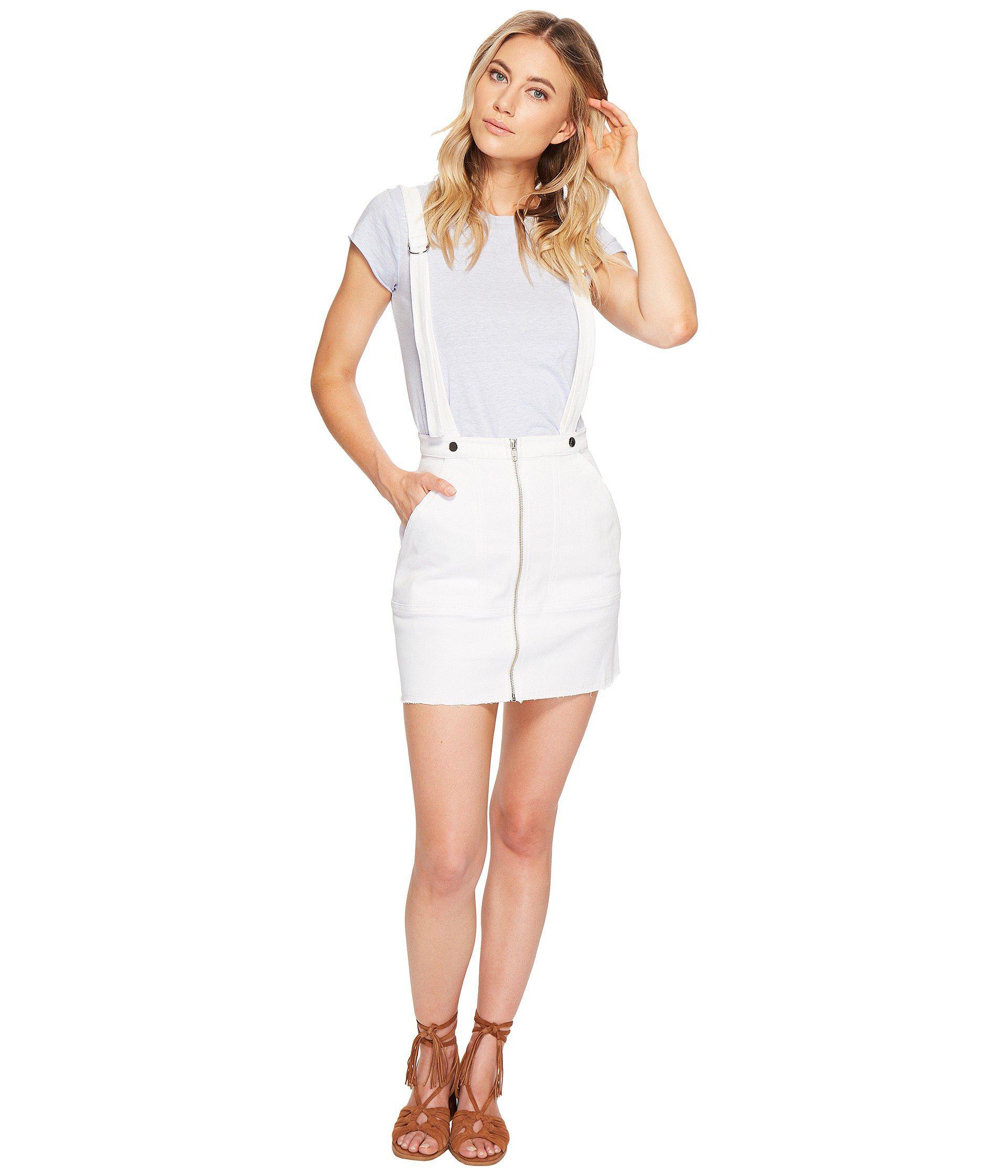 a5e02b1ced Lyst - For Love   Lemons Monika Overalls Mini Skirt in White