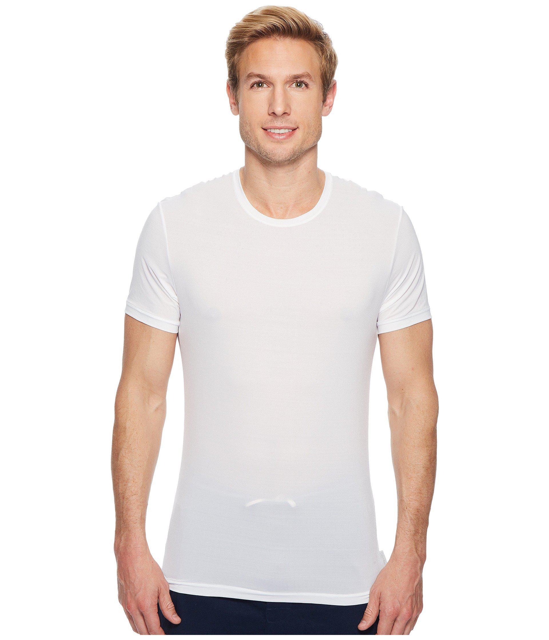 298be4fbfbad Calvin Klein Light Short Sleeve Crew Neck Tee in White for Men - Lyst