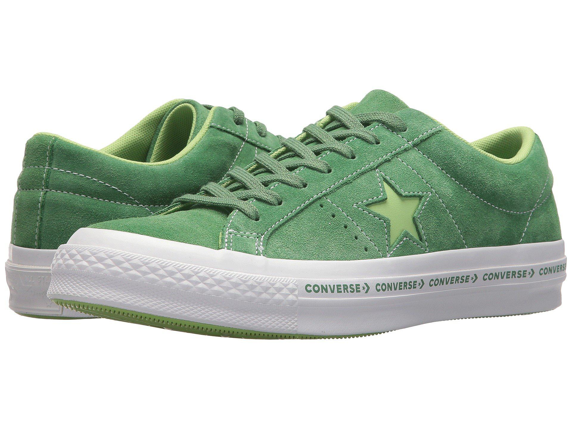 Lyst - Converse One Star Ox Trainers in Green for Men 73b8607df