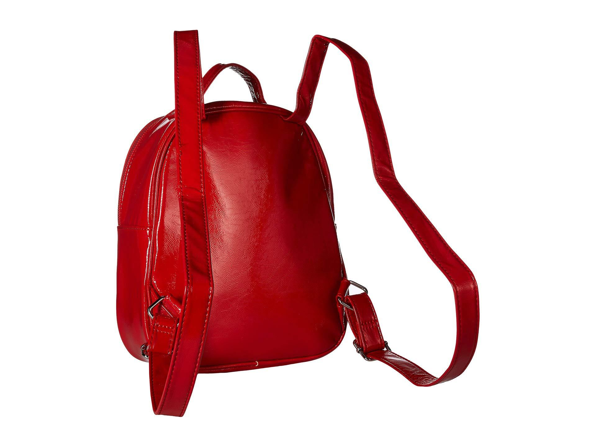 45ced691ff Lyst - Betsey Johnson Heart Pocket Backpack in Red