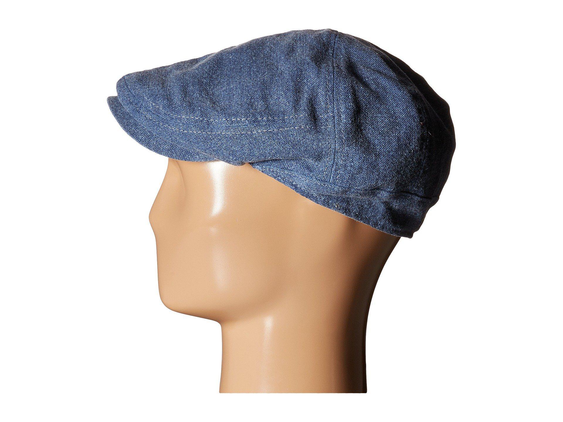 36e64bd510b Lyst - Stetson Linen Blend Ivy Cap in Blue for Men