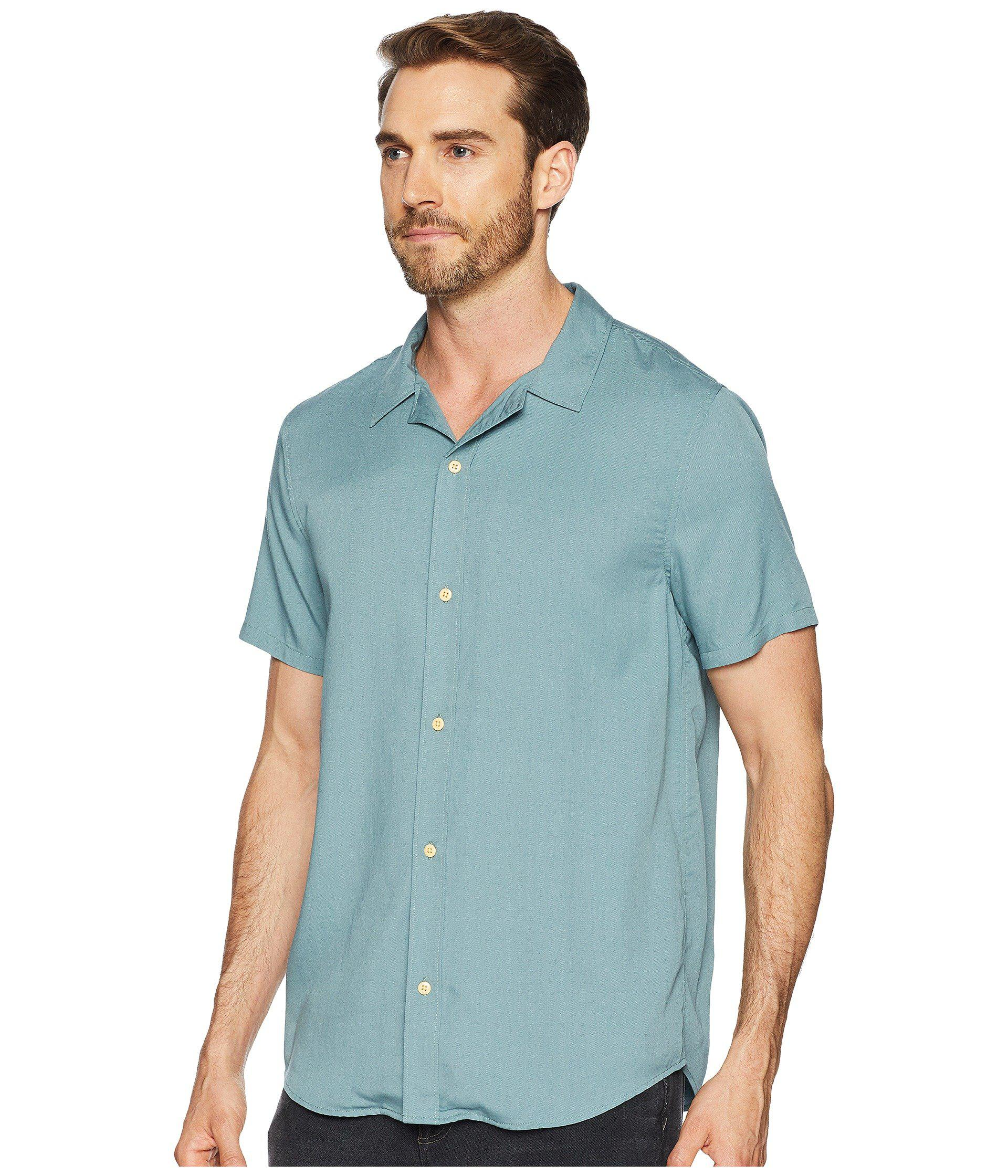 16562035be Lyst - Threads For Thought Modal Short Sleeve Beach Shirt in Green for Men  - Save 15%