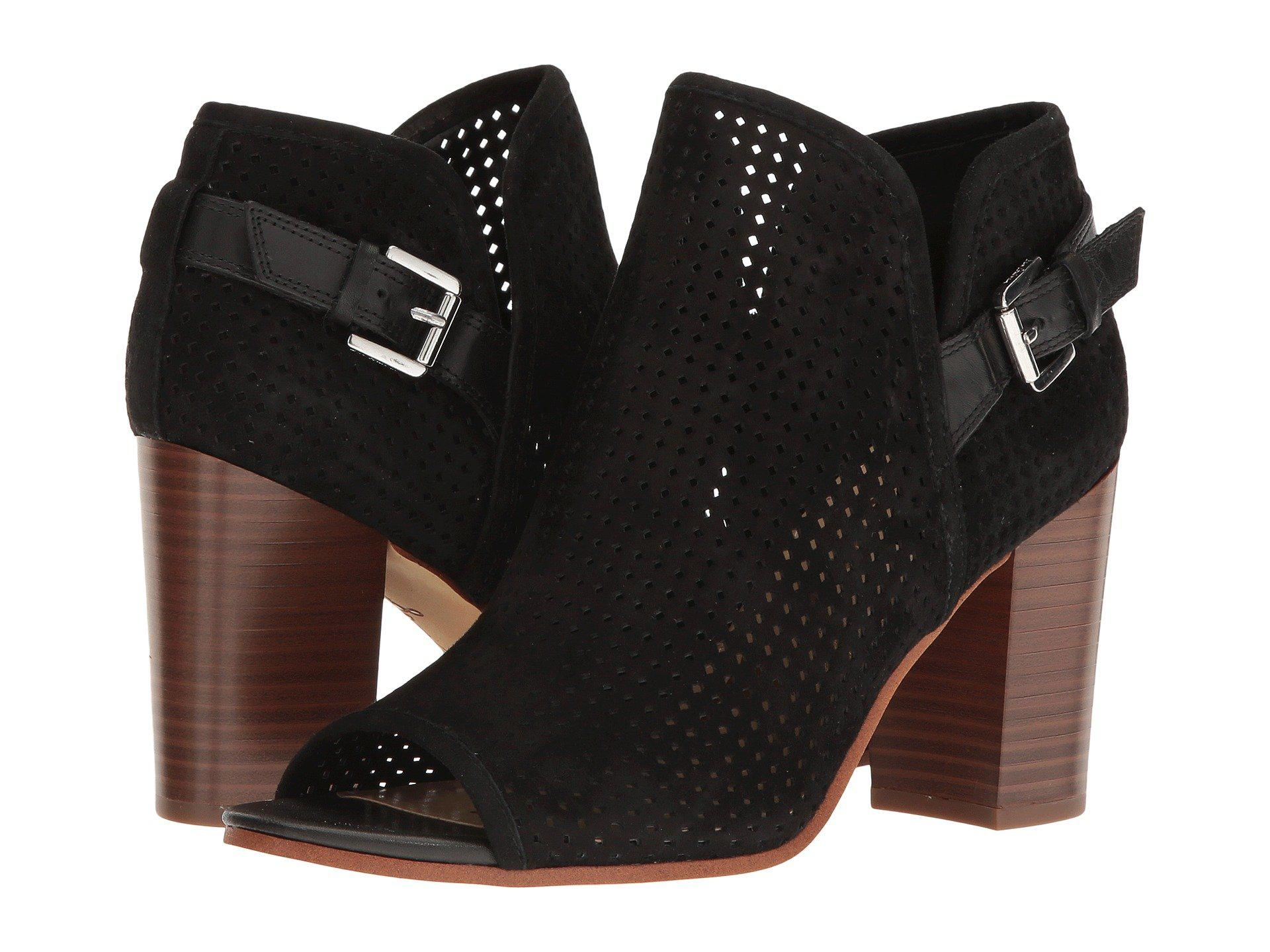 a5b146d593c5 Lyst - Sam Edelman Easton Perforated Open Toe Bootie in Black
