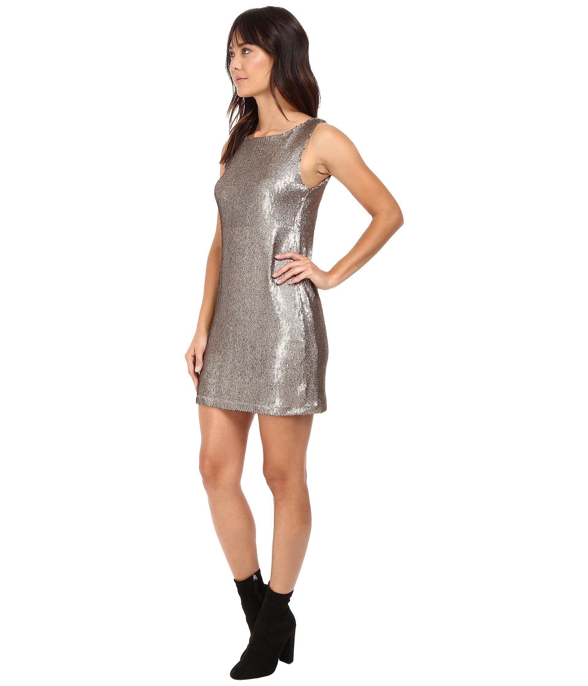 2d968502da7 Lyst - BB Dakota Penley Sequin Shift Dress in Metallic