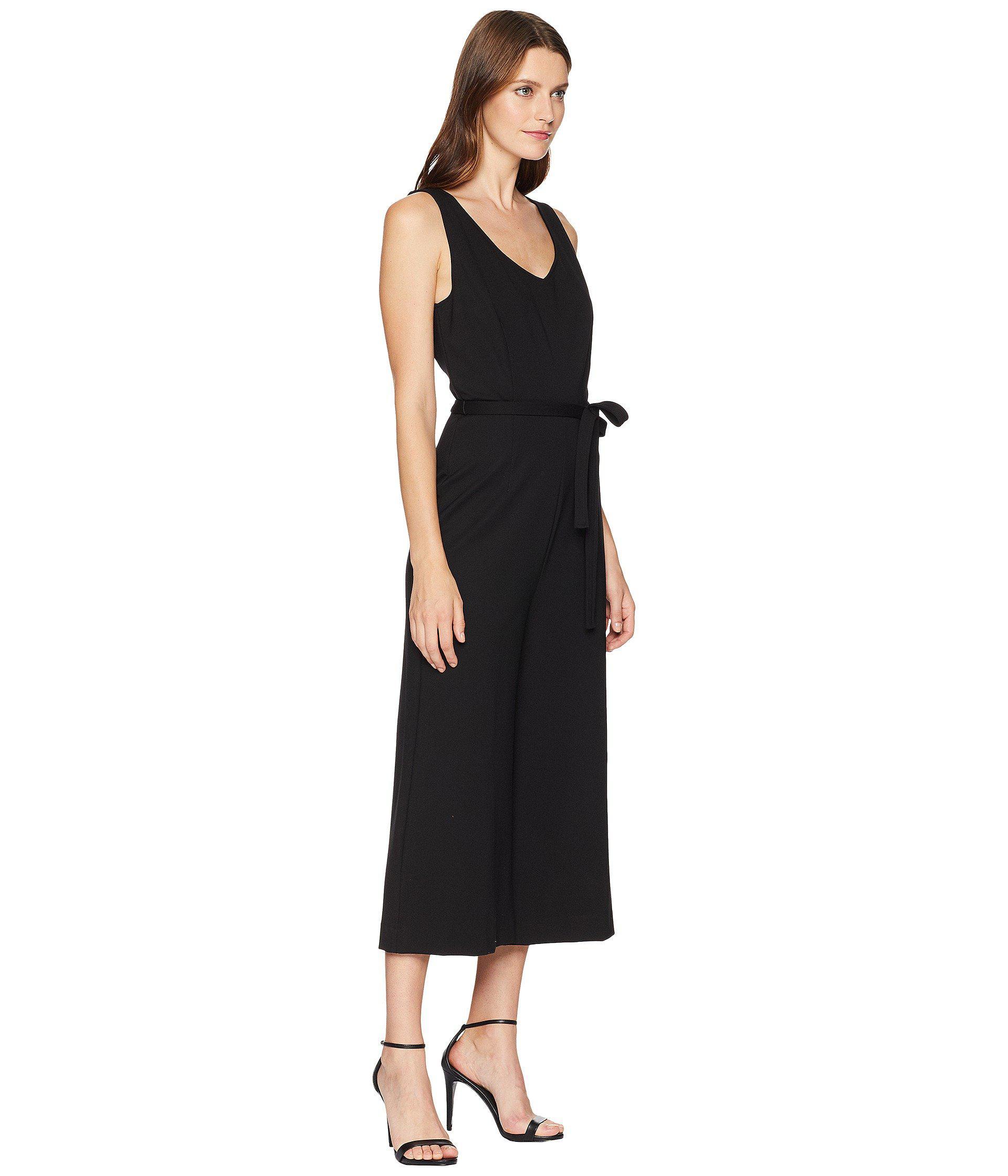 b2be61b6a18e Three Dots - Black Ponte Sleeveless Jumpsuit - Lyst. View fullscreen