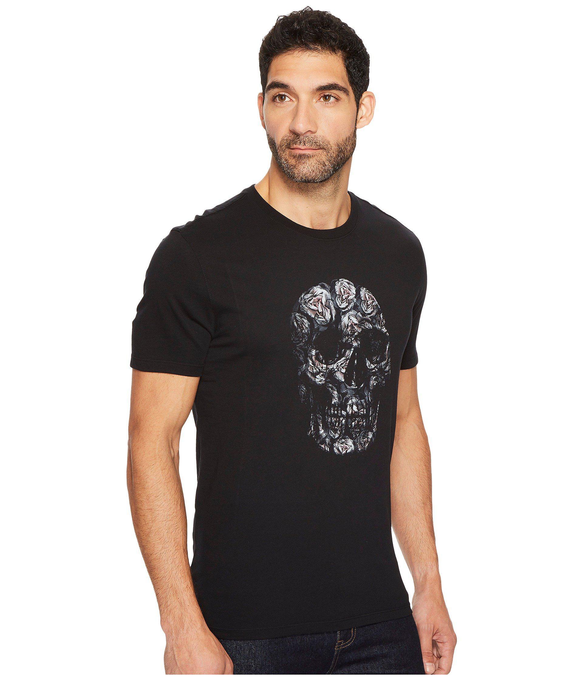 442f5cb41 John Varvatos Floral Skull Graphic Tee K3365t3b in Black for Men - Lyst
