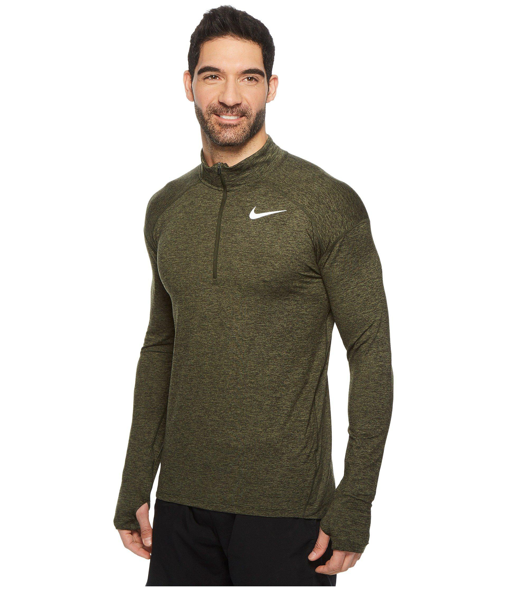 28af3b833cab Nike - Green Dry Element 1 2 Zip Running Top for Men - Lyst. View fullscreen