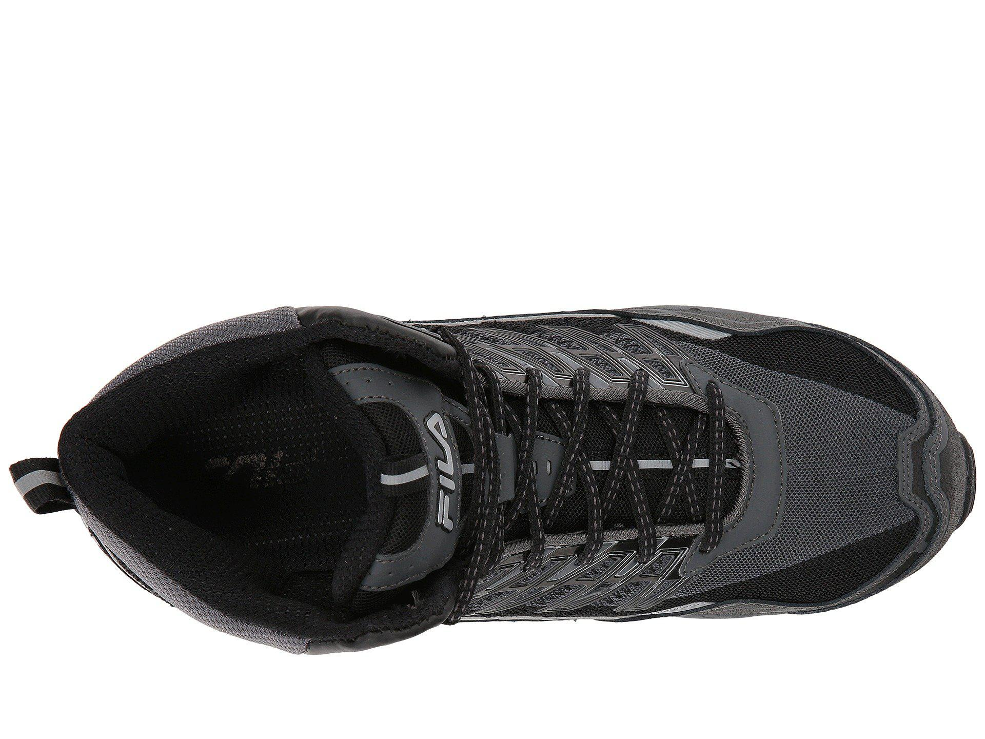 ec9e02f0a915 Fila - Black Hail Storm 3 Mid Composite Toe Trail for Men - Lyst. View  fullscreen