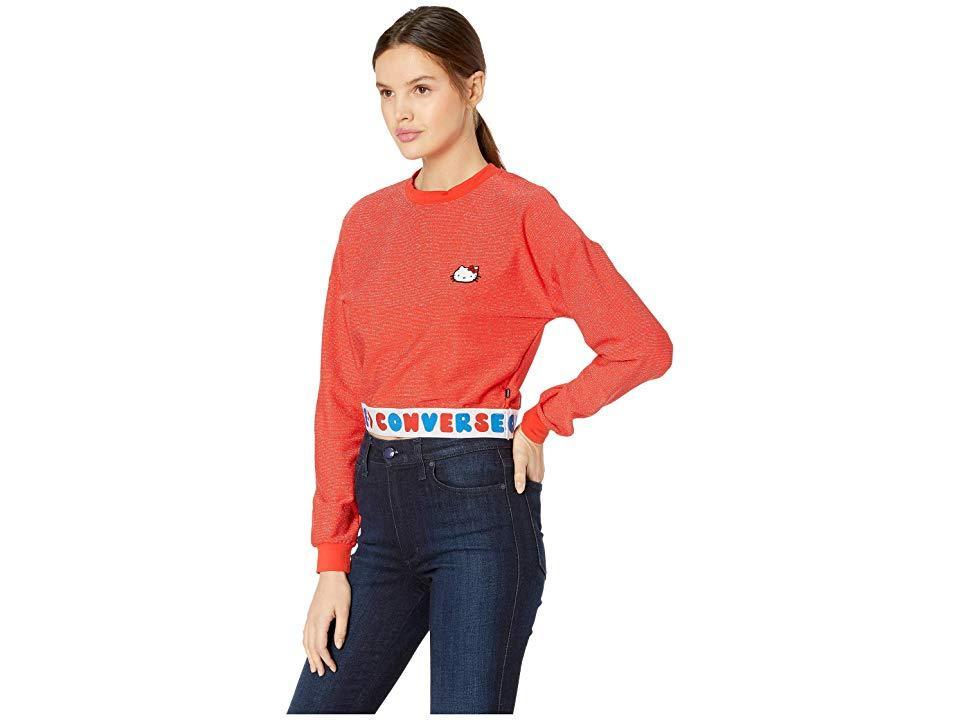 4b1fddcf Converse - X Hello Kitty Red Tape Long Sleeve T-shirt - Lyst. View  fullscreen