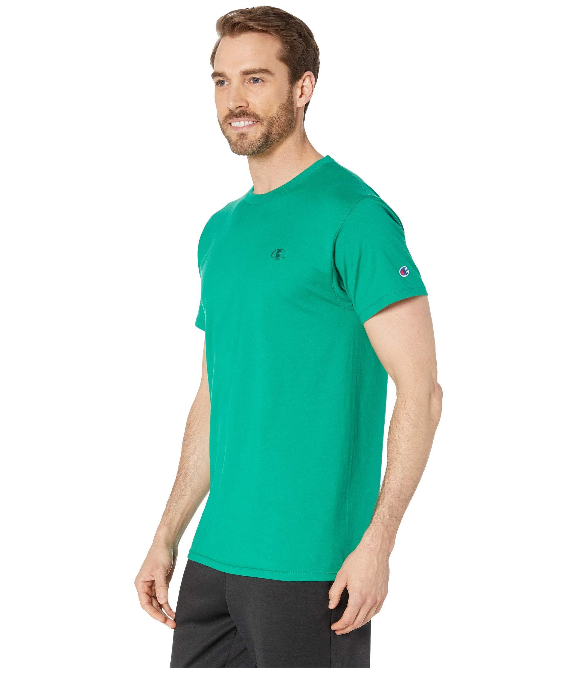 77852d8ae814 Lyst - Champion Classic Jersey Tee in Green for Men