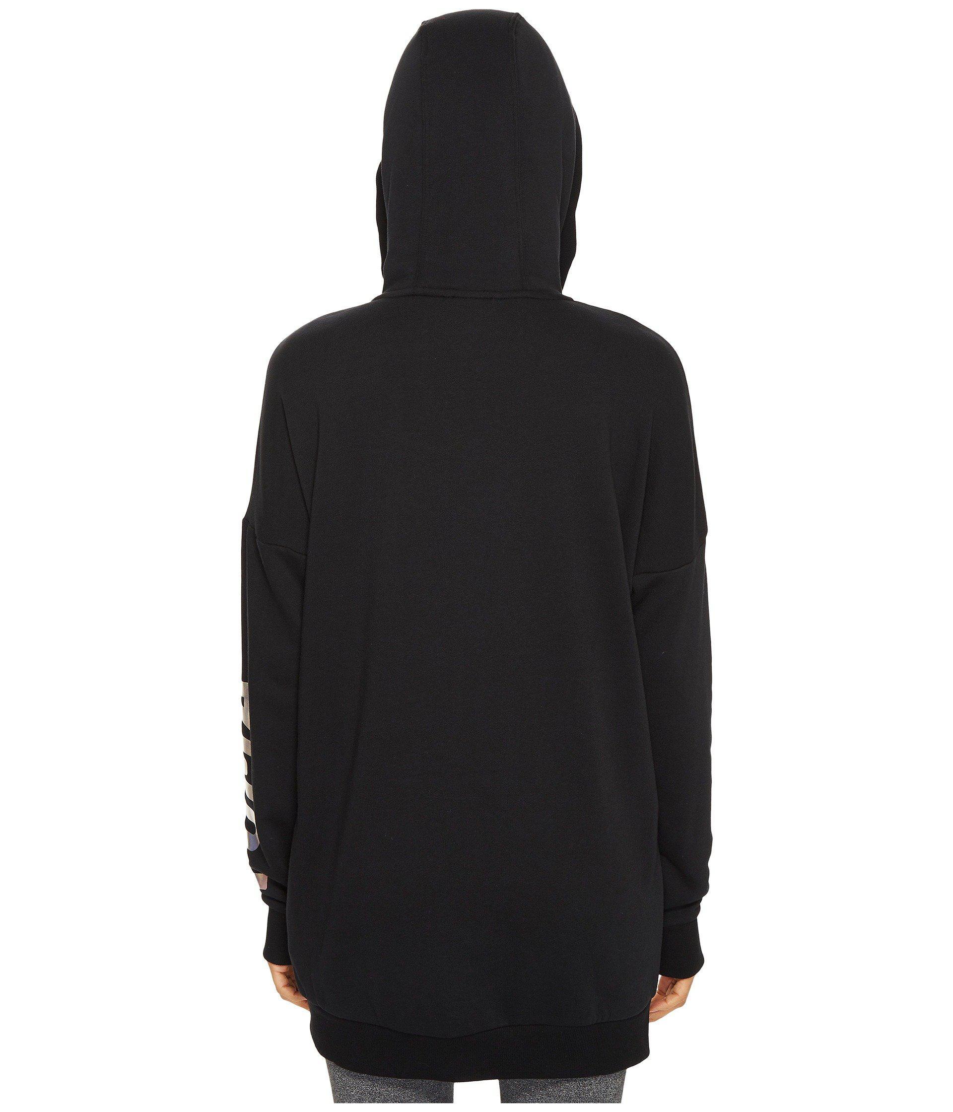 a81606997c45 Lyst - PUMA Fusion Elongated Full Zip Hoodie in Black